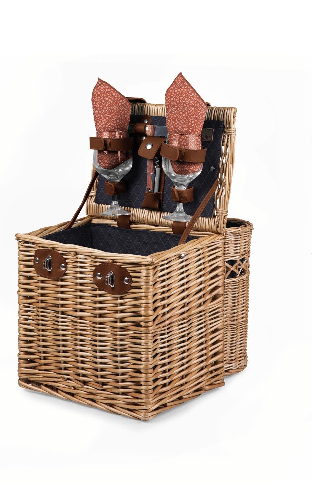 'Vino' Wine & Cheese Picnic Basket,                             Alternate thumbnail 2, color,                             400