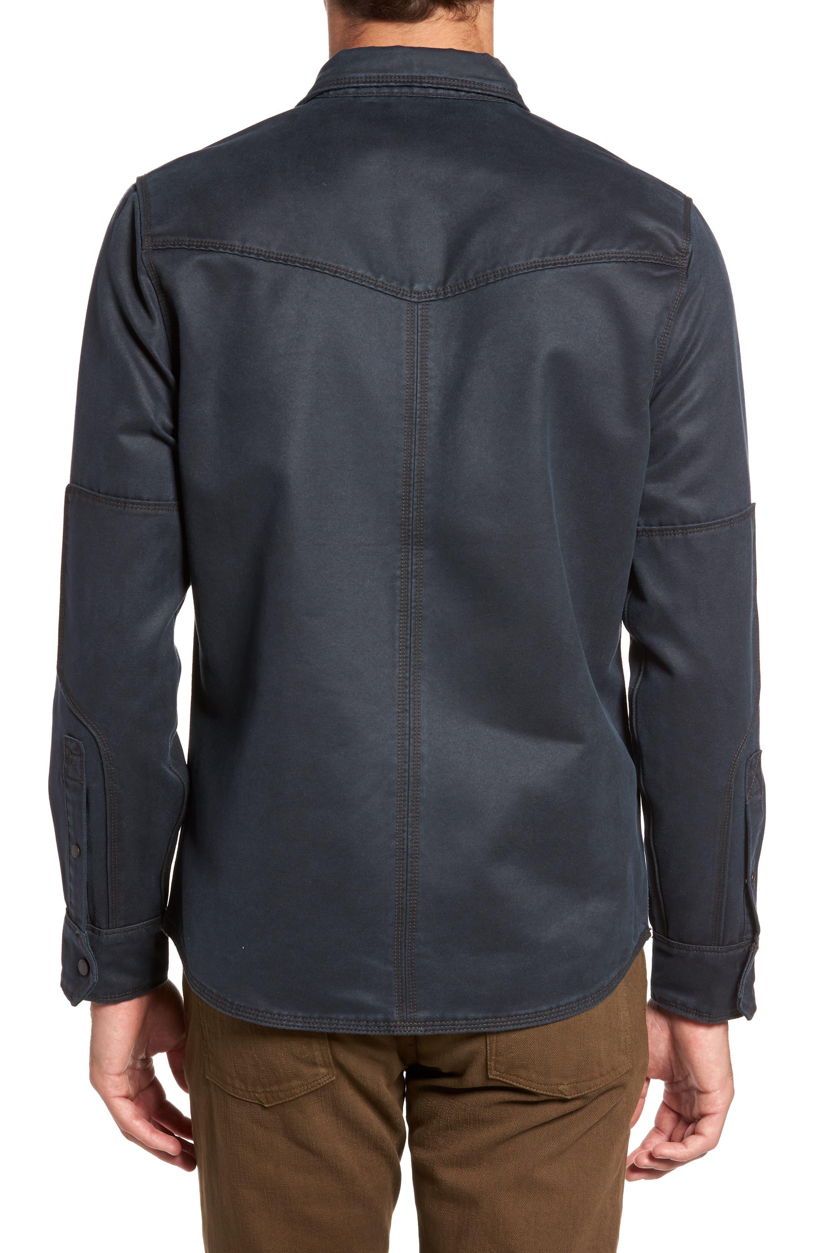 'Colt' Regular Fit Sueded Cotton Blend Shirt Jacket,                             Alternate thumbnail 2, color,                             INKWELL
