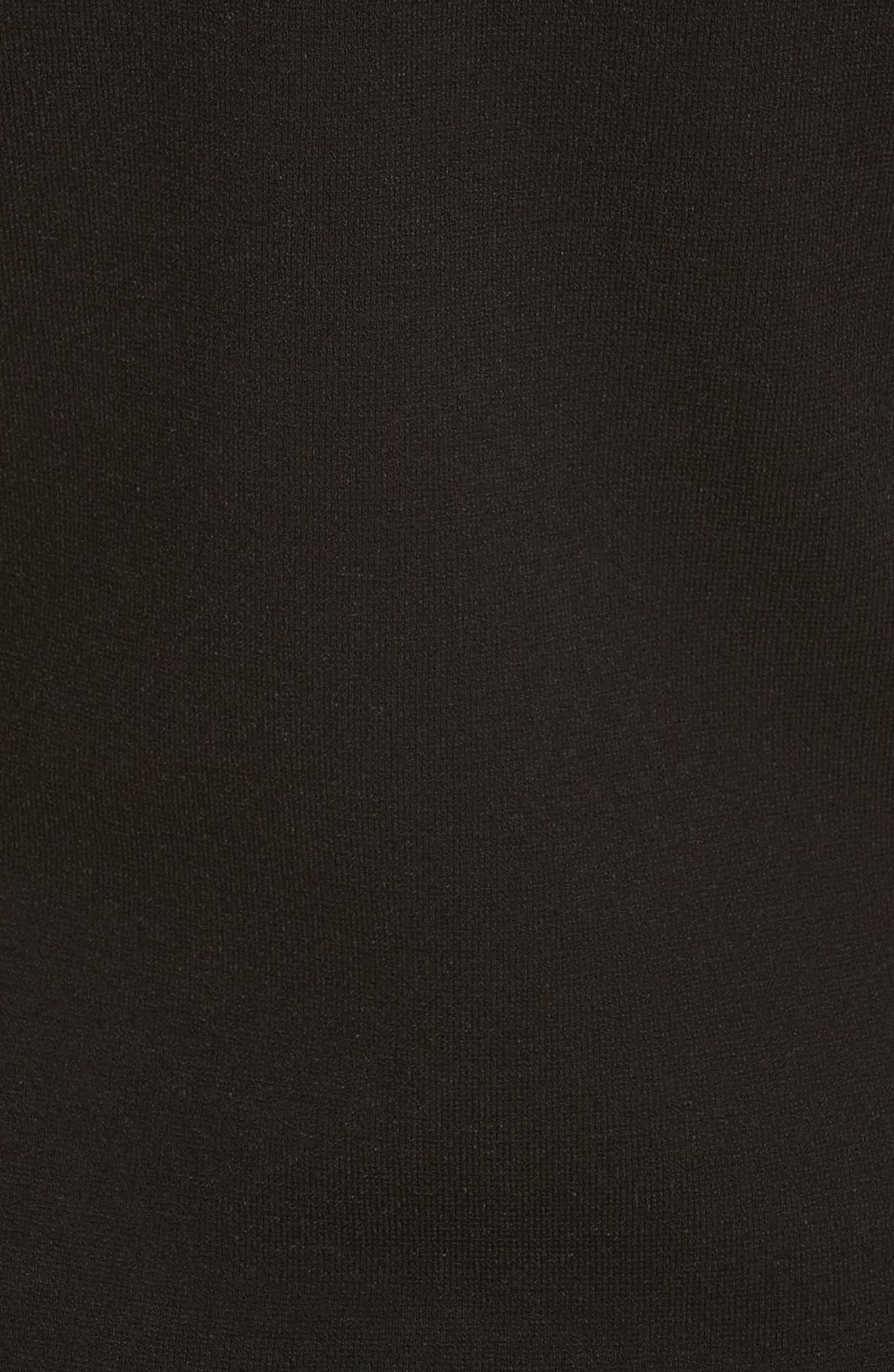 Diane von Furstenberg Long Sleeve Minidress,                             Alternate thumbnail 5, color,                             361