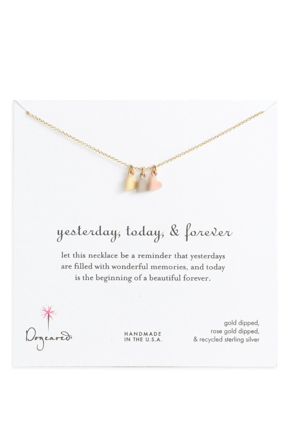 'Yesterday, Today, Forever' Charm Necklace,                             Alternate thumbnail 6, color,                             962