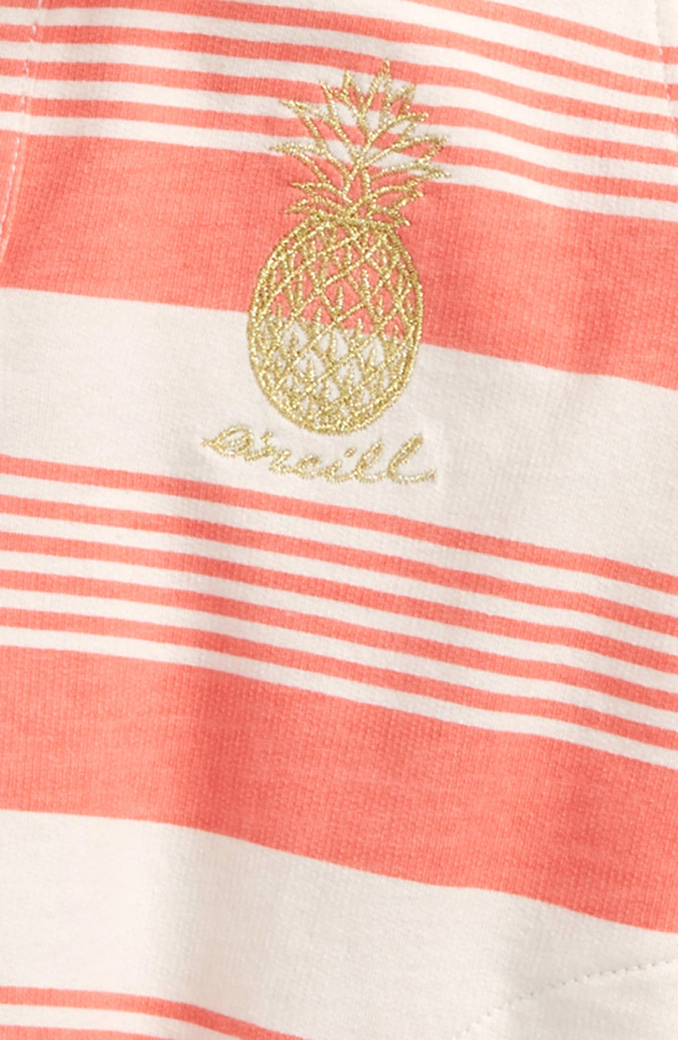 Playa Stripe Hoodie,                             Alternate thumbnail 4, color,                             BURNT CORAL
