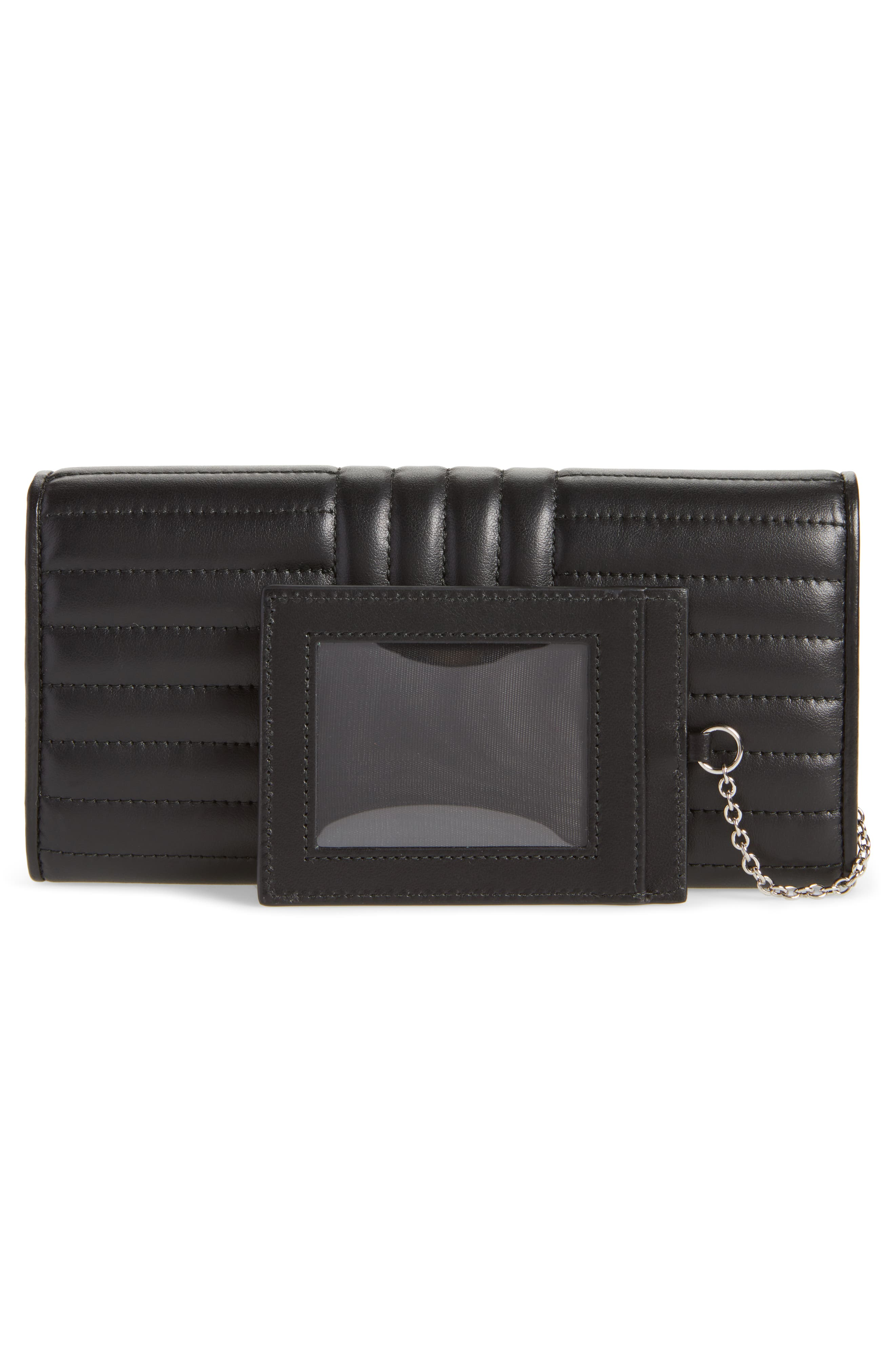Quilted Leather Continental Wallet,                             Alternate thumbnail 3, color,                             001