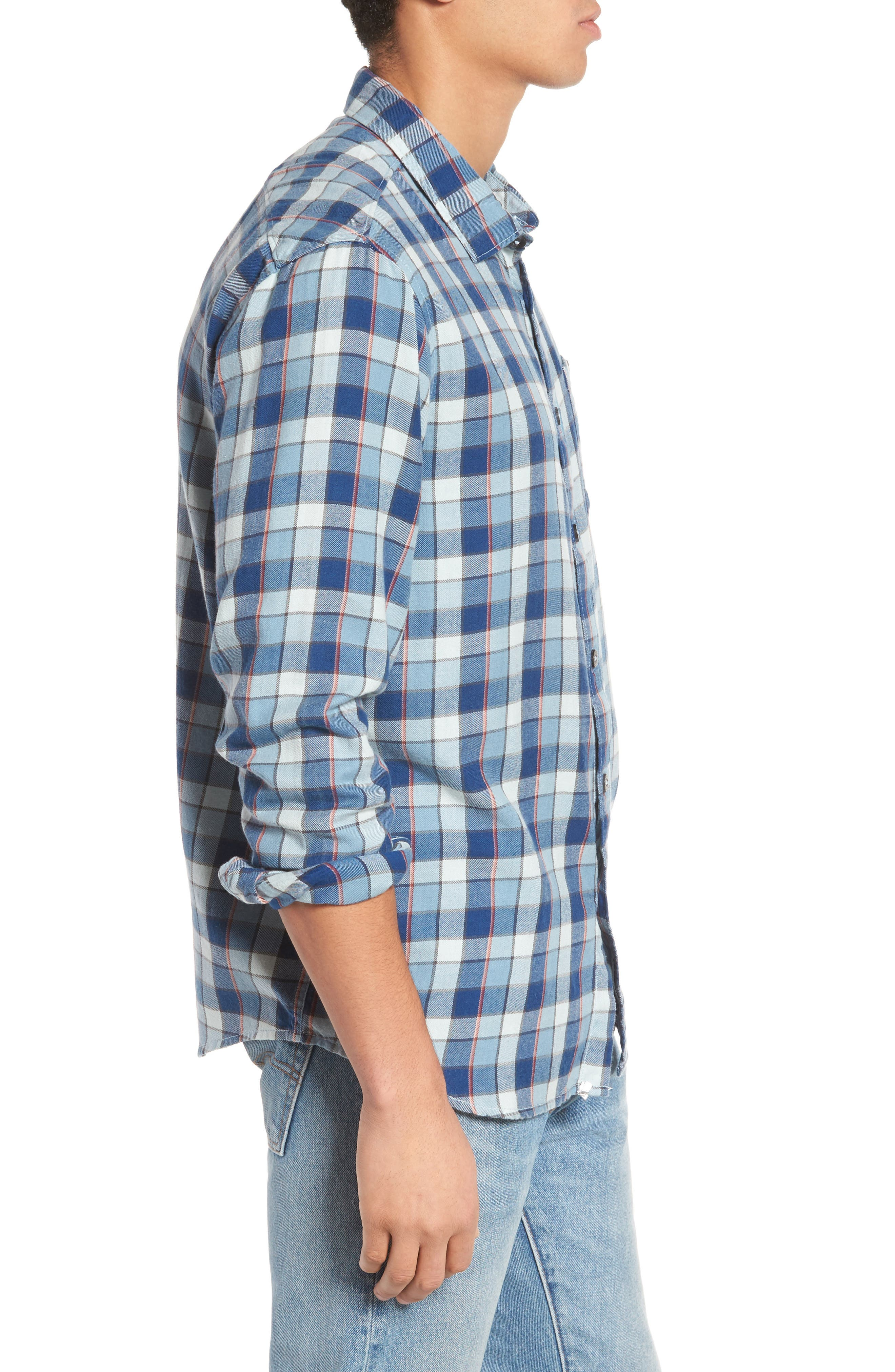 Bilabong Freemont Flannel Shirt,                             Alternate thumbnail 3, color,                             428