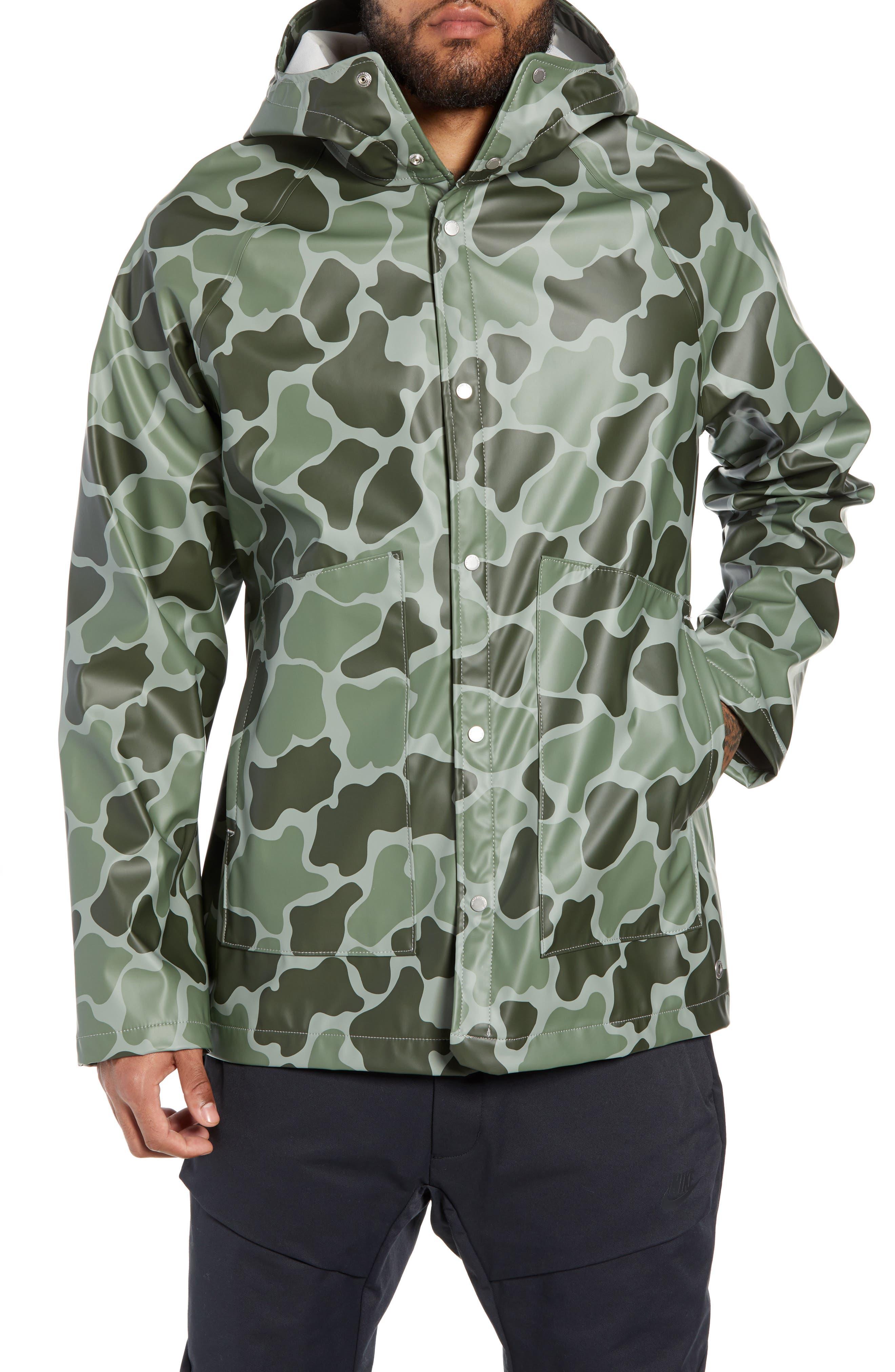 Herschel Supply Co. Classic Hooded Rain Jacket, Green
