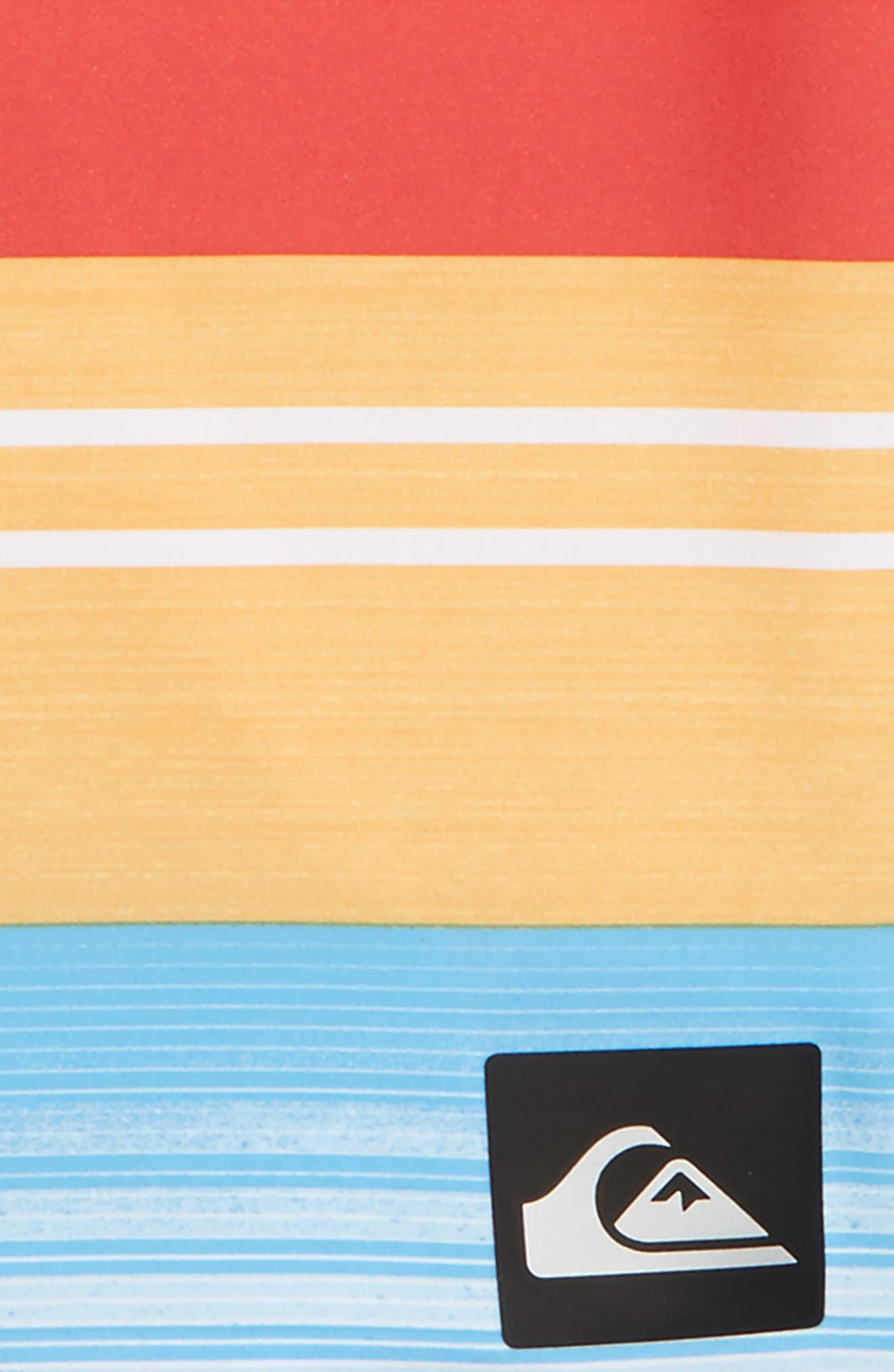 Everyday Stripe Vee Board Shorts,                             Main thumbnail 7, color,