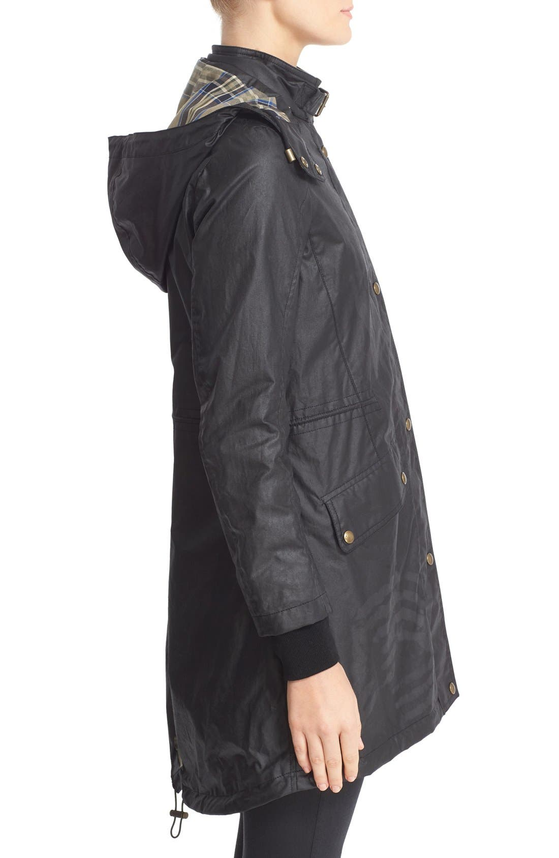 Wembury Waxed Cotton Jacket,                             Alternate thumbnail 5, color,                             001