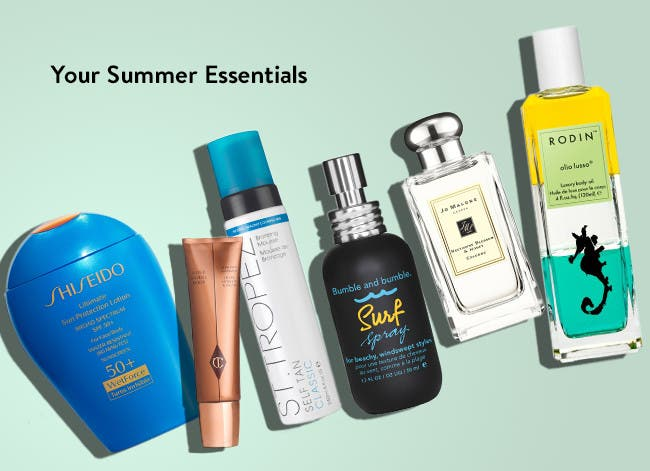 Summer essentials for face, hair and body.