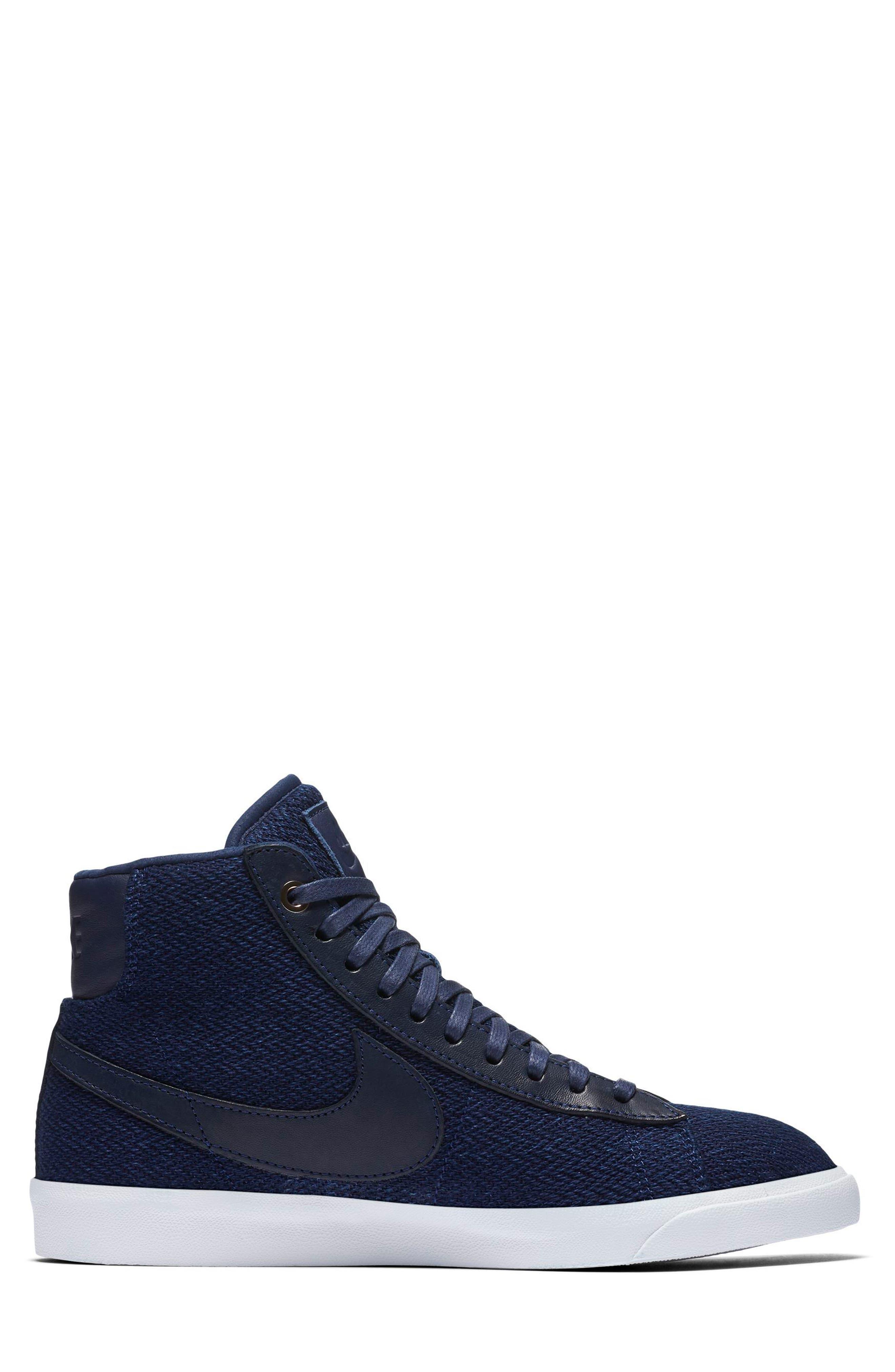Blazer Mid Premium LX Sneaker,                             Alternate thumbnail 3, color,                             400