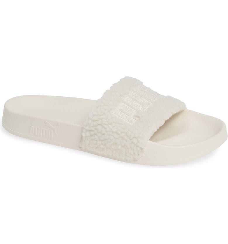 9b133cb15c7dfe PUMA Leadcat Faux Shearling Slide Sandal (Women)