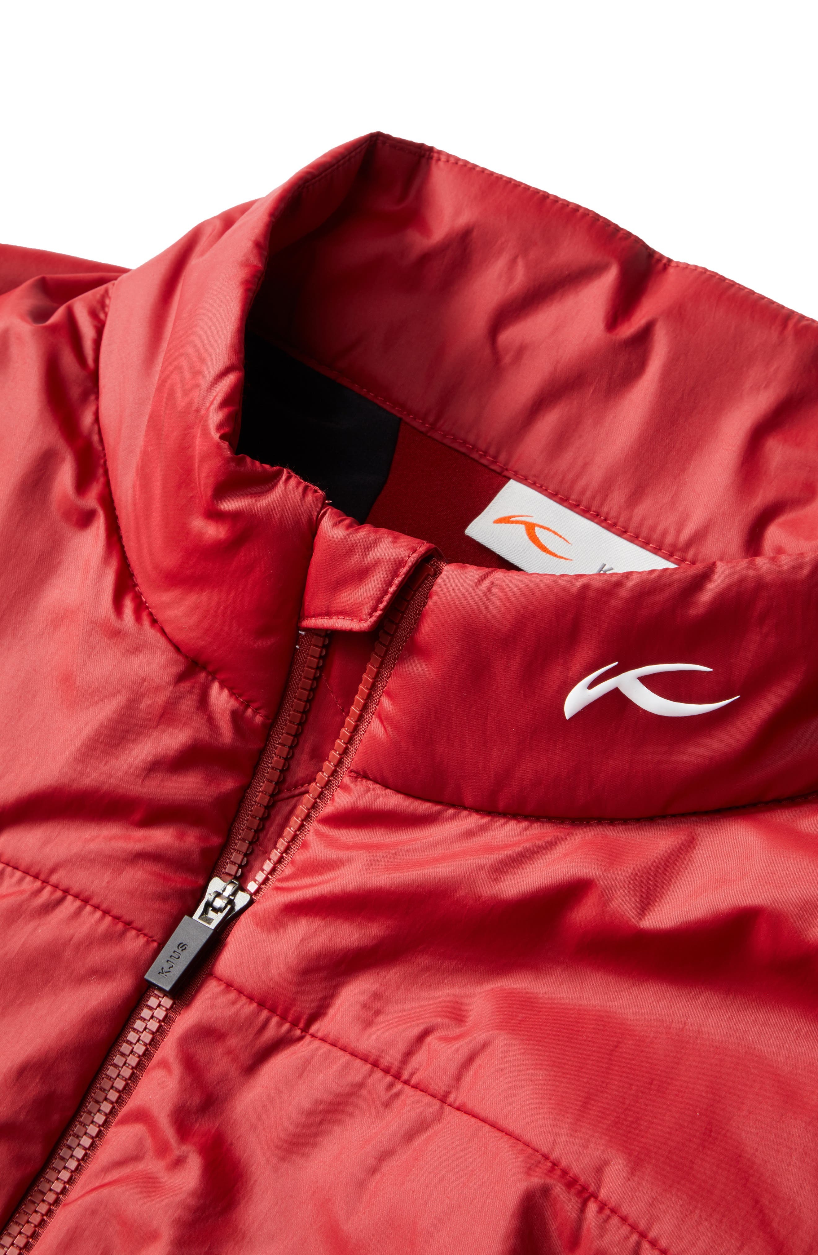 Radiation Waterproof Jacket,                             Alternate thumbnail 6, color,                             RED DAHLIA