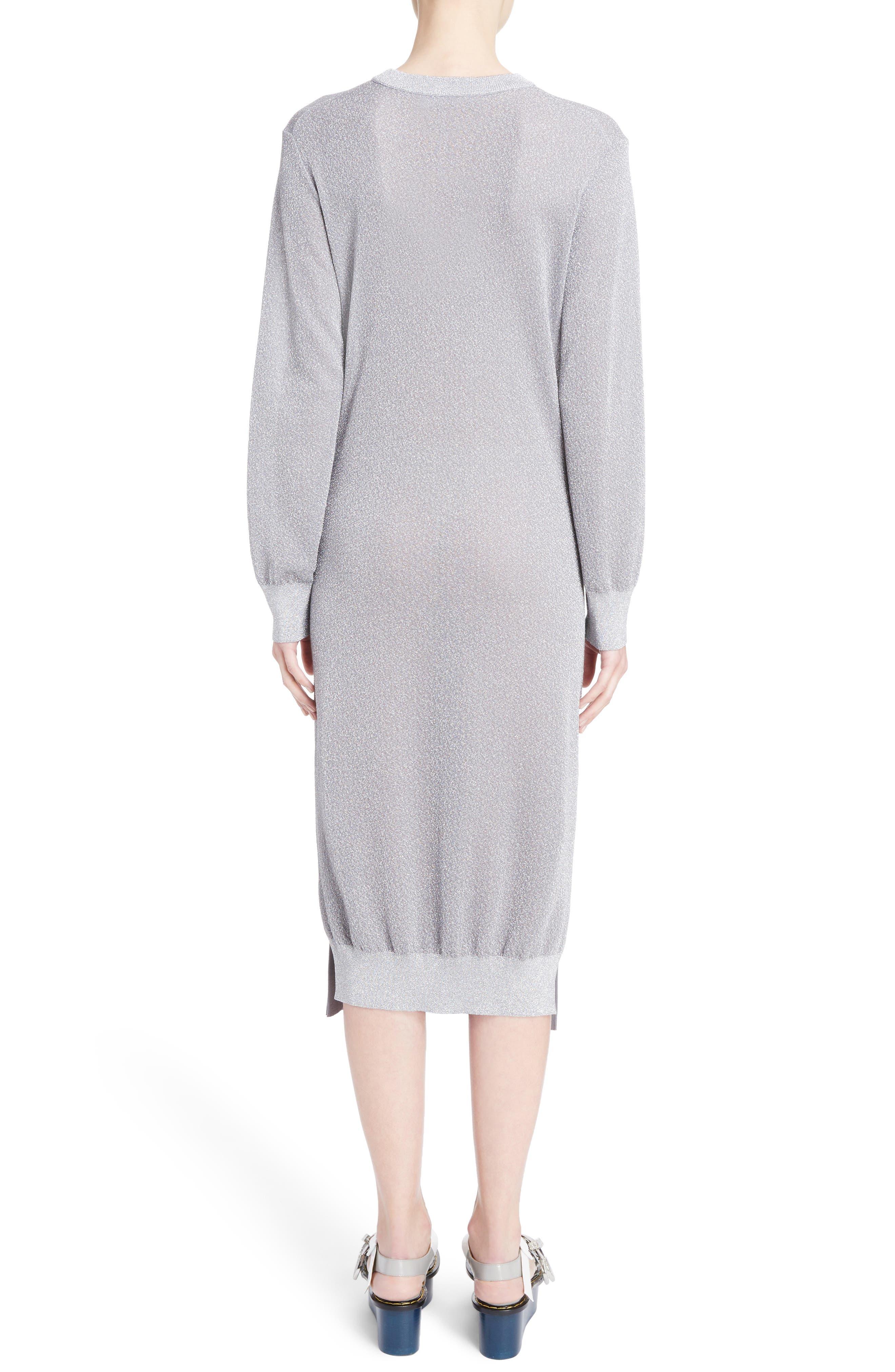 Knit Lamé Dress,                             Alternate thumbnail 2, color,                             040