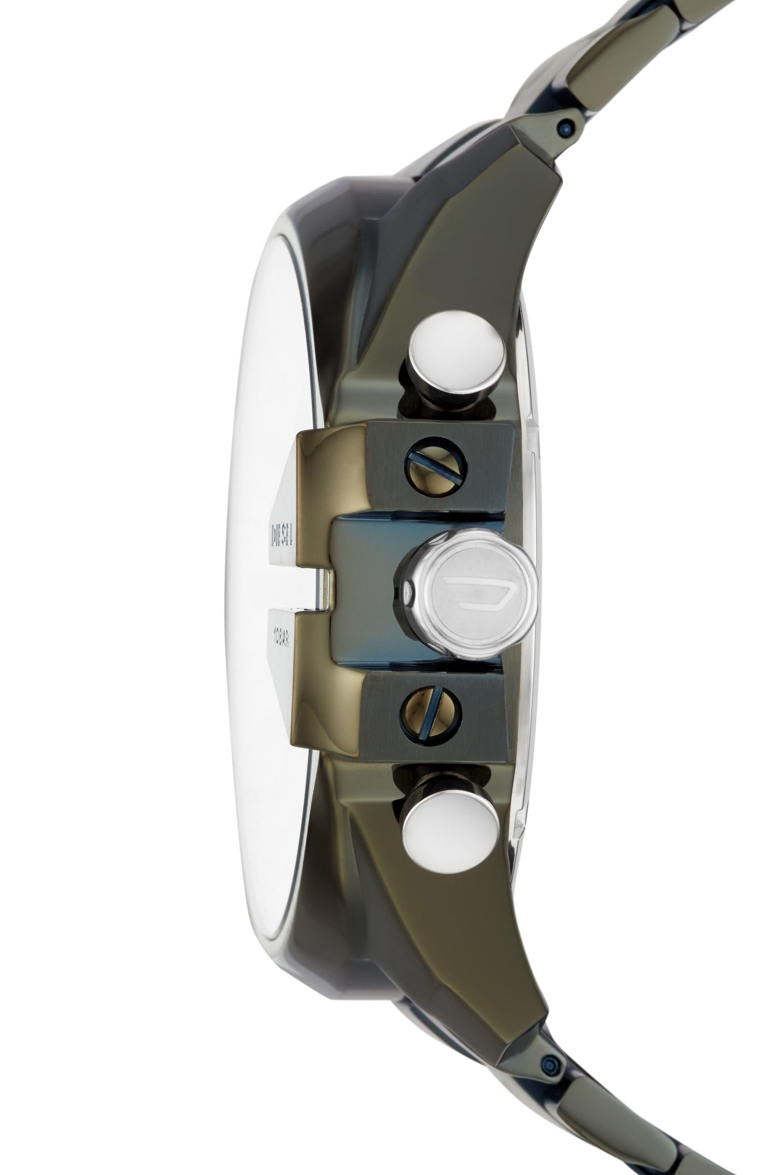 Mega Chief Chronograph Bracelet Watch, 51mm,                             Alternate thumbnail 2, color,                             WHITE/ OLIVE