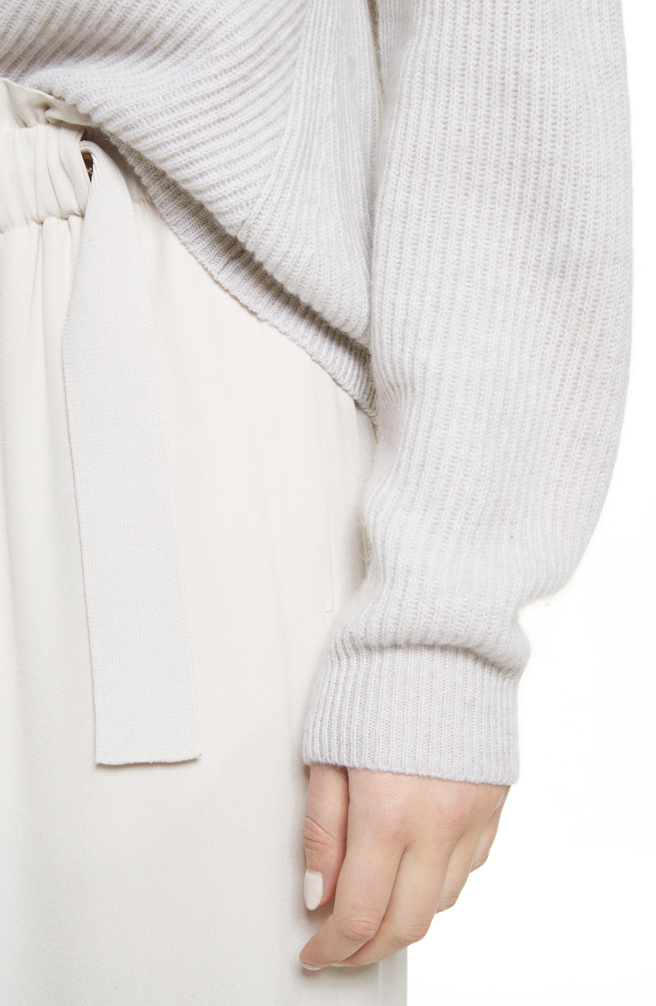 Diagonal Rib Wool & Cashmere Sweater,                             Alternate thumbnail 11, color,