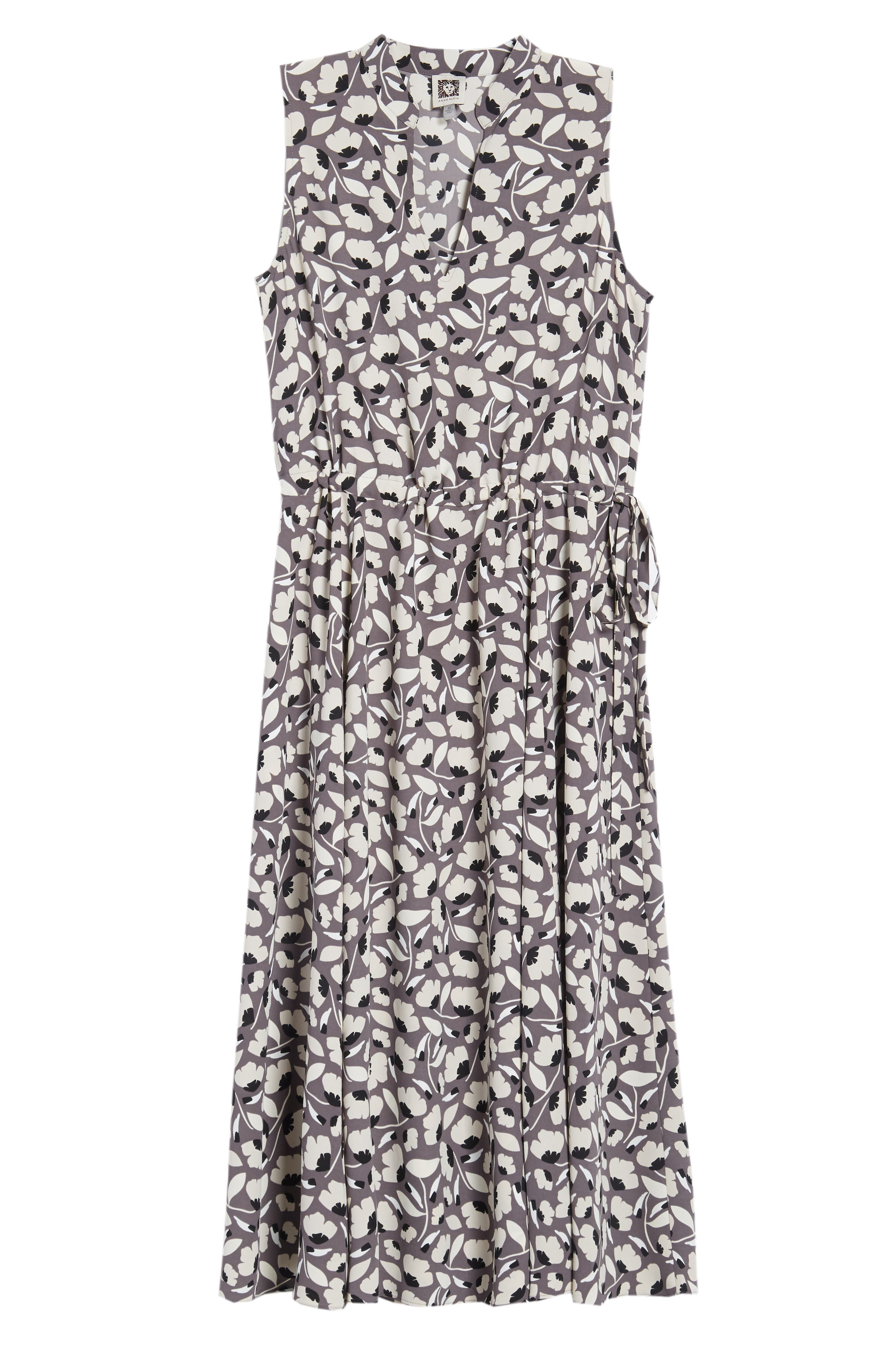 Floral Drawstring Dress,                             Alternate thumbnail 7, color,                             020