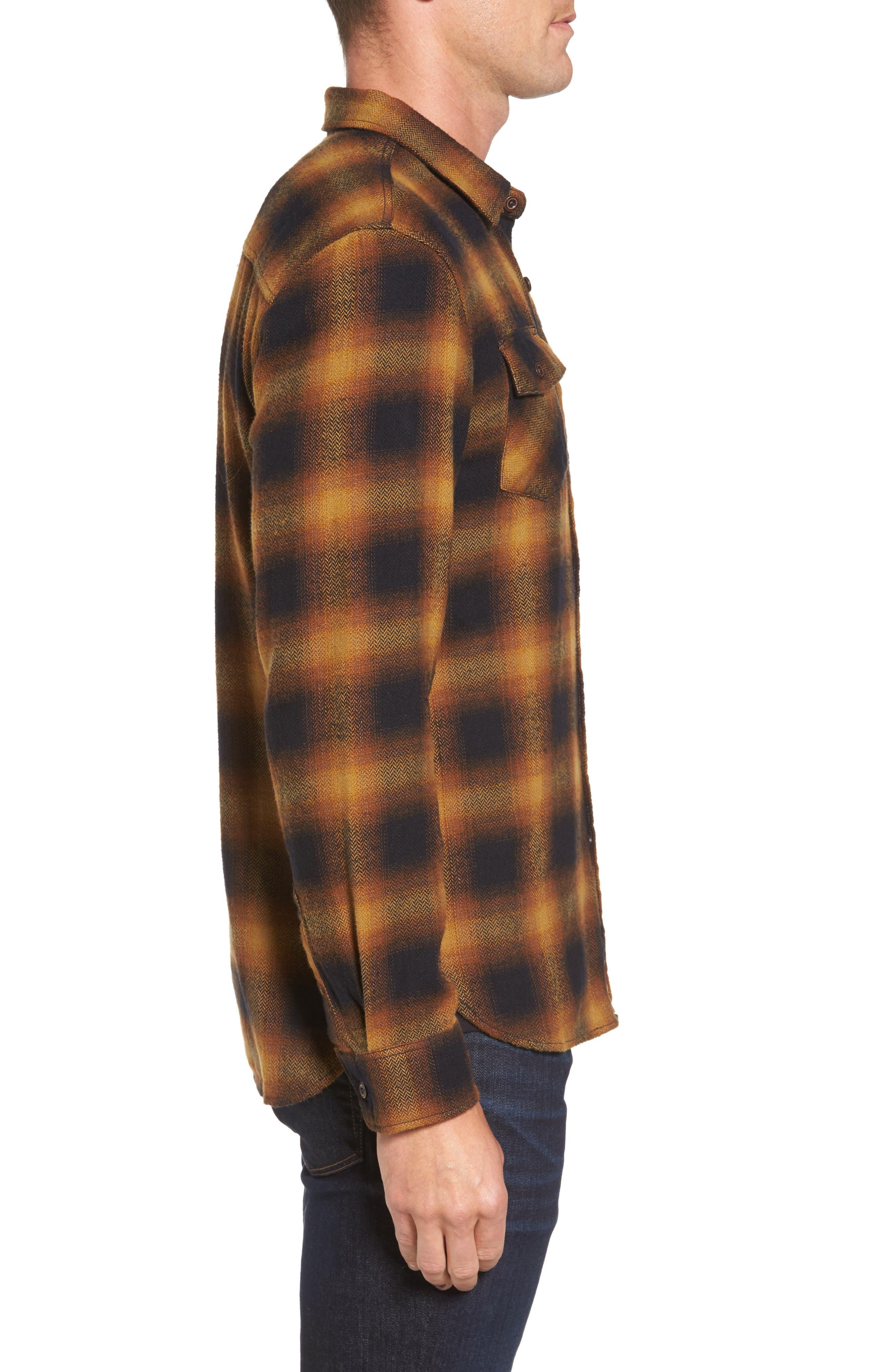 Truman Check Herringbone Shirt,                             Alternate thumbnail 3, color,