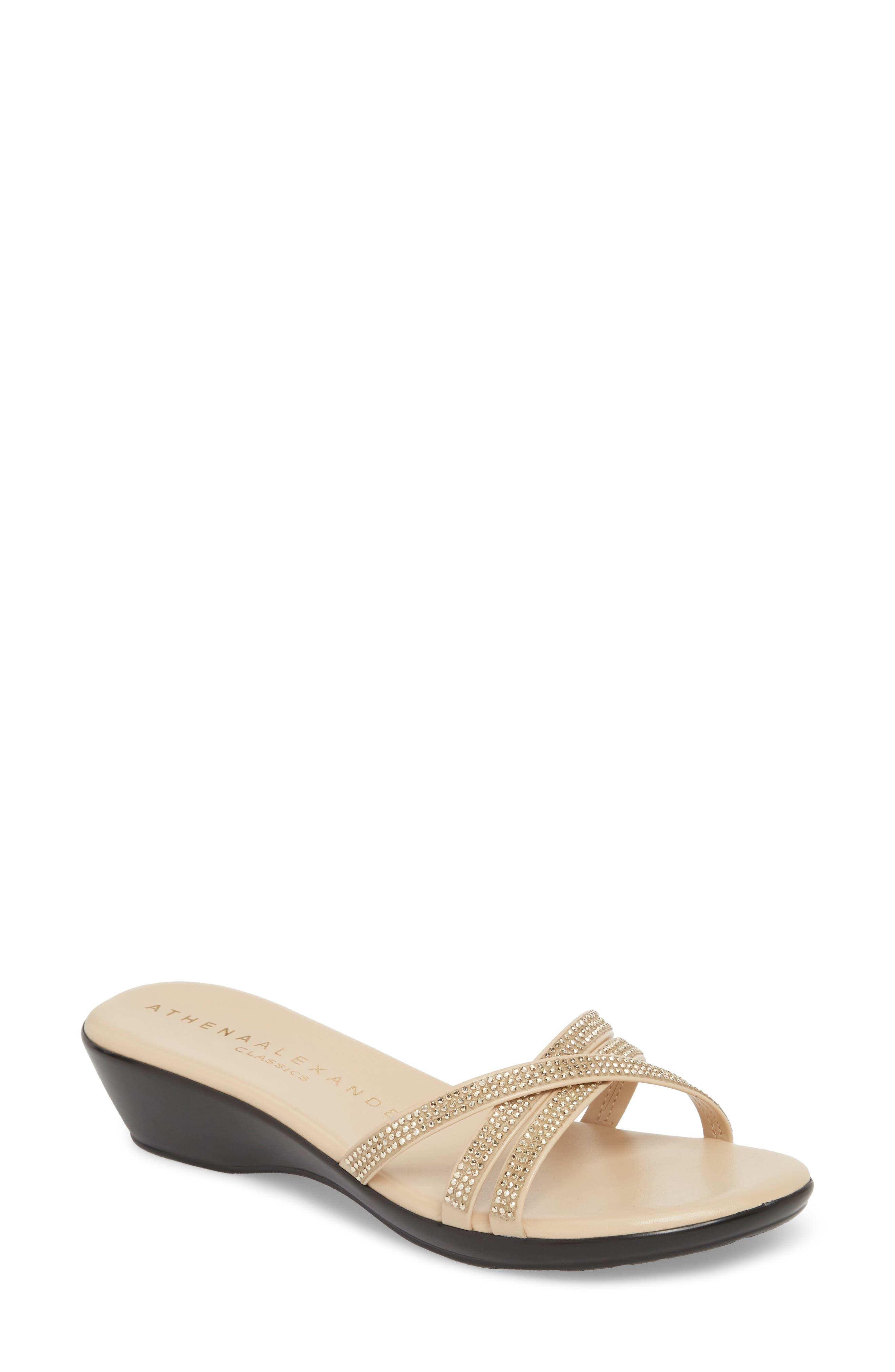 Athena Alexander Harlow Slide Sandal, Beige