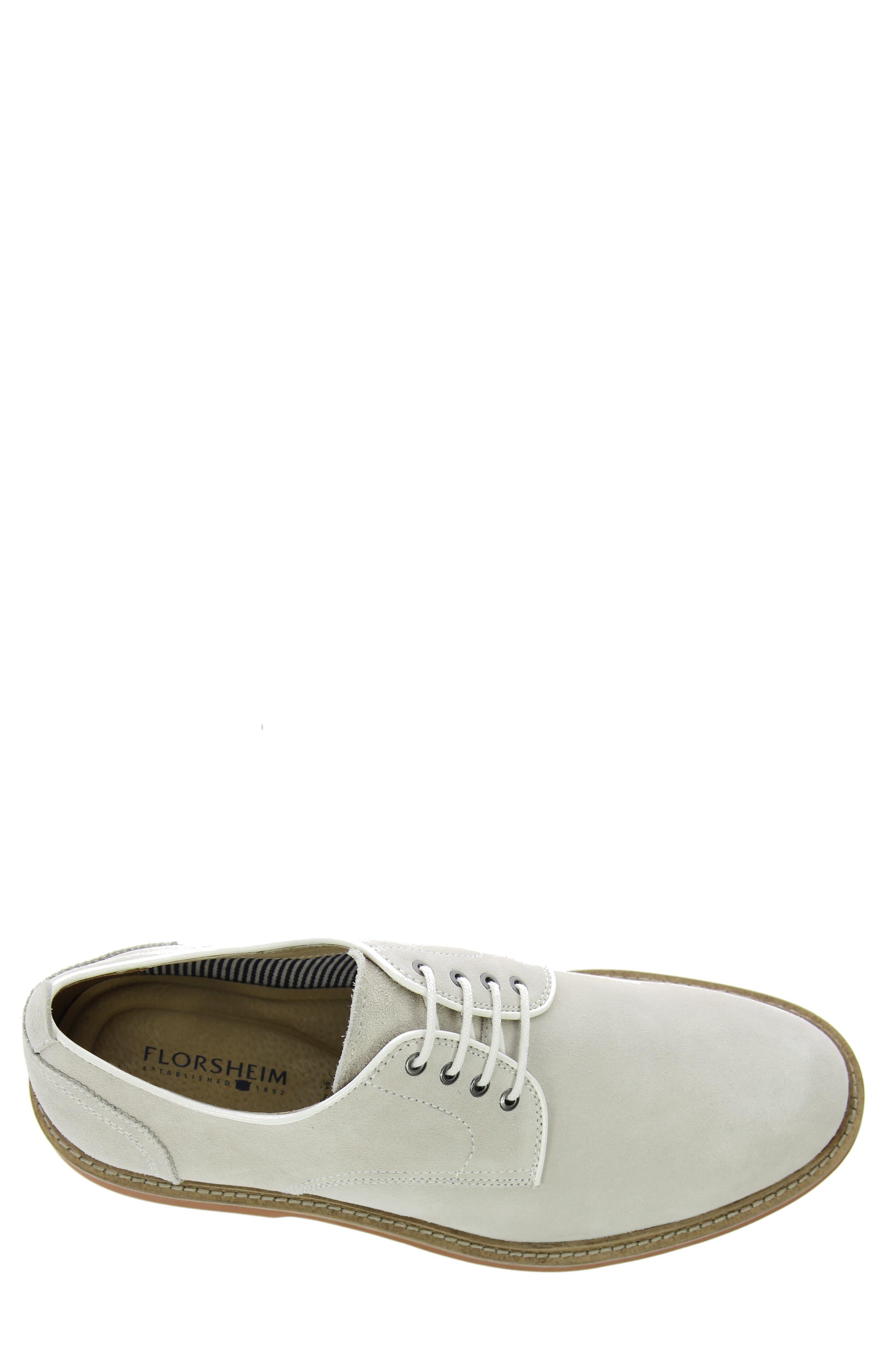 'Bucktown' Buck Shoe,                             Alternate thumbnail 5, color,                             WHITE SUEDE