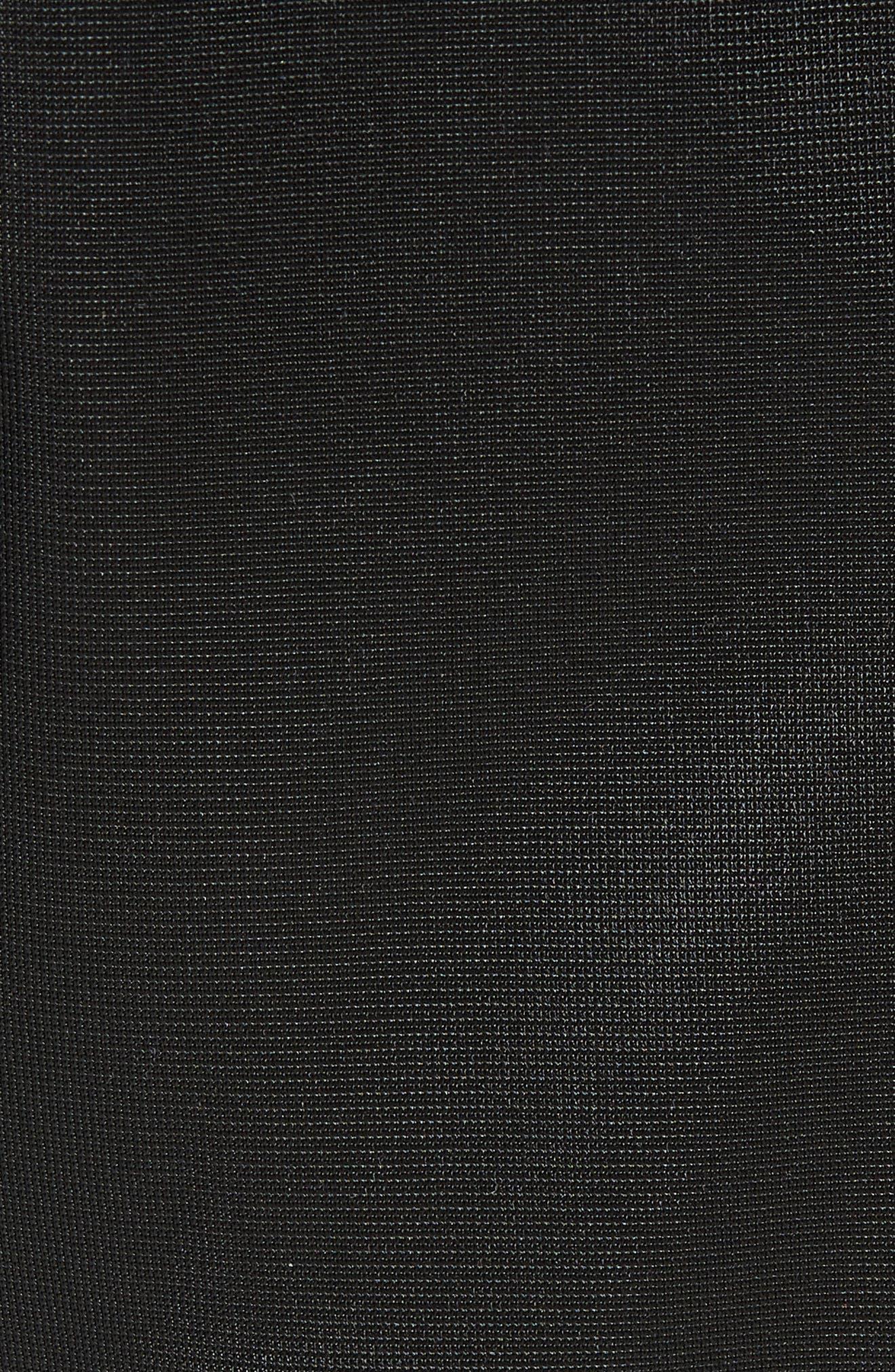 Authentic Fairfax Side Stripe Slim Track Pants,                             Alternate thumbnail 5, color,                             BLACK/ WHITE