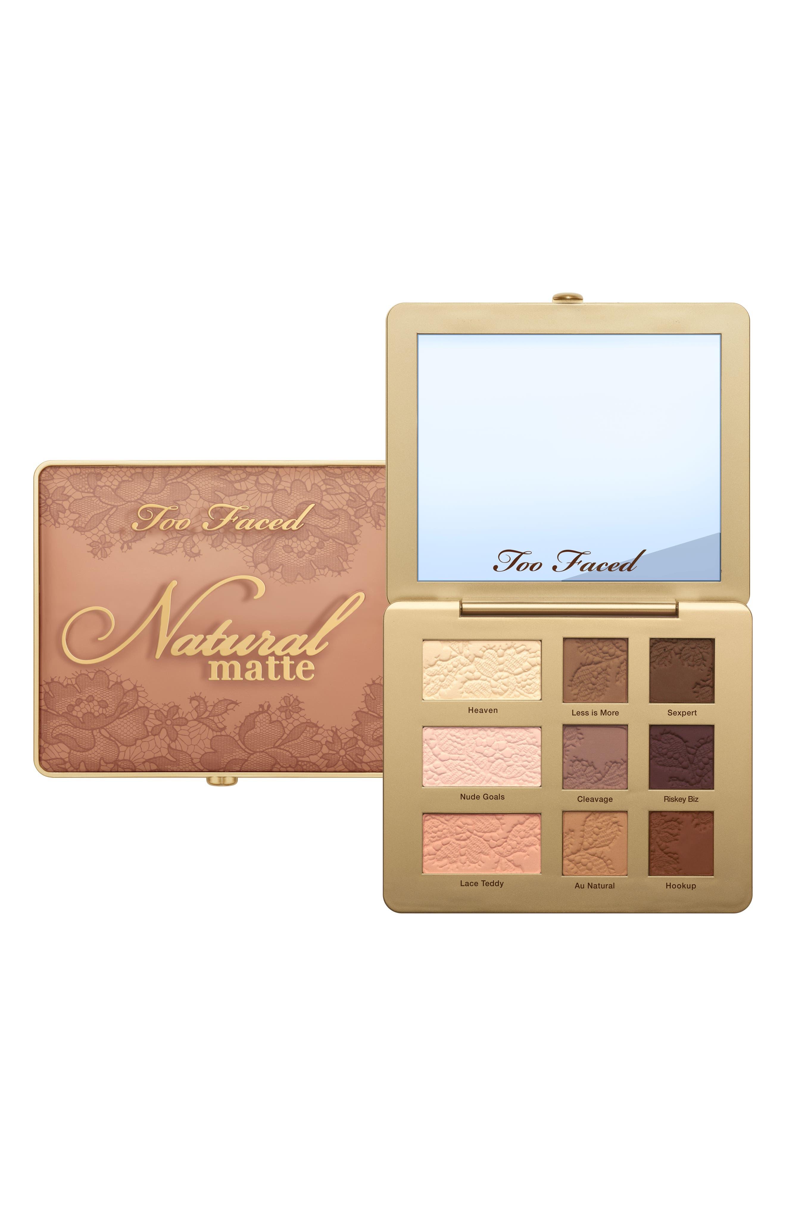 Natural Matte Eyeshadow Palette,                             Alternate thumbnail 4, color,                             NO COLOR