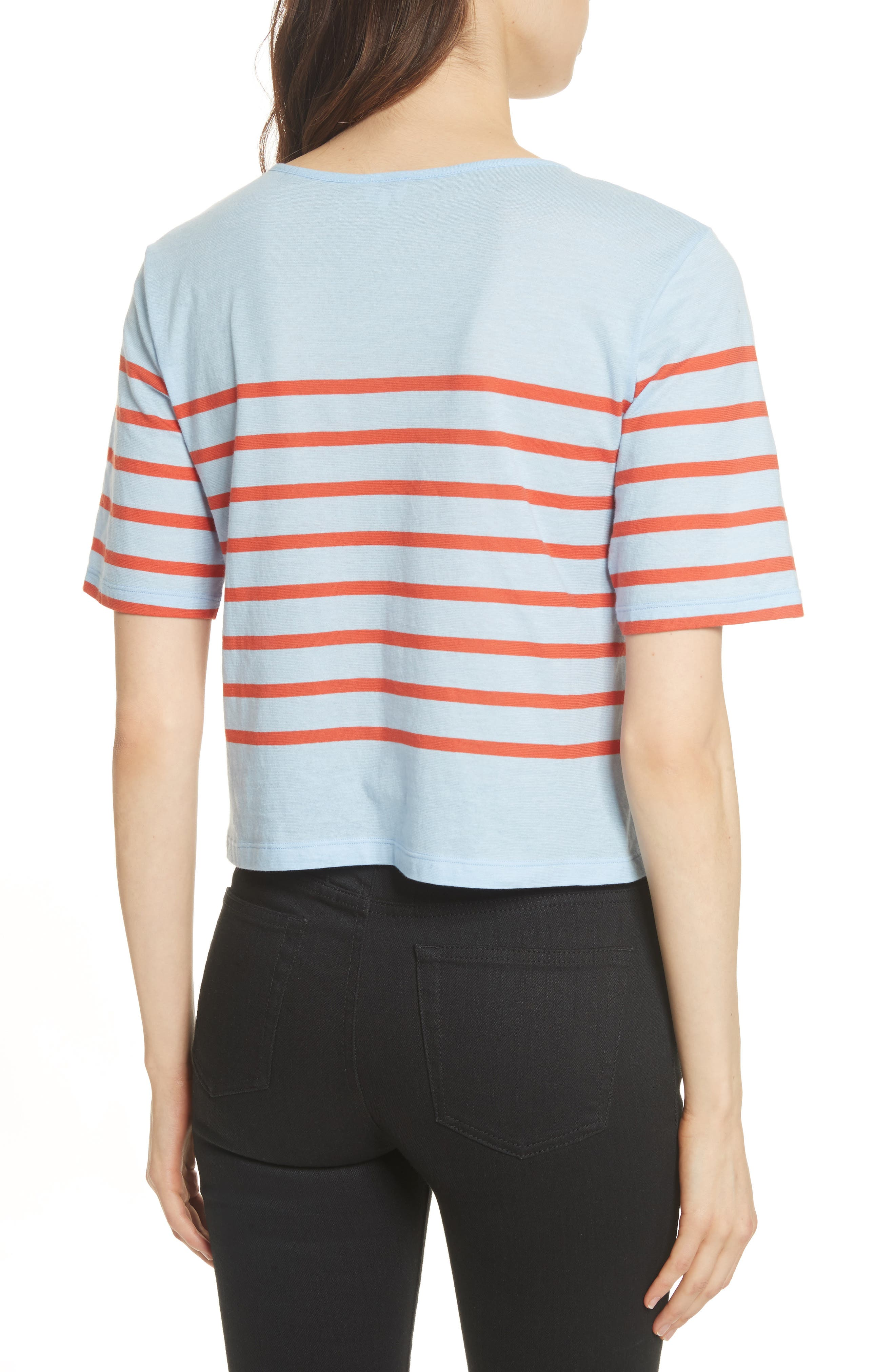 The Crop Stripe Tee,                             Alternate thumbnail 2, color,                             450