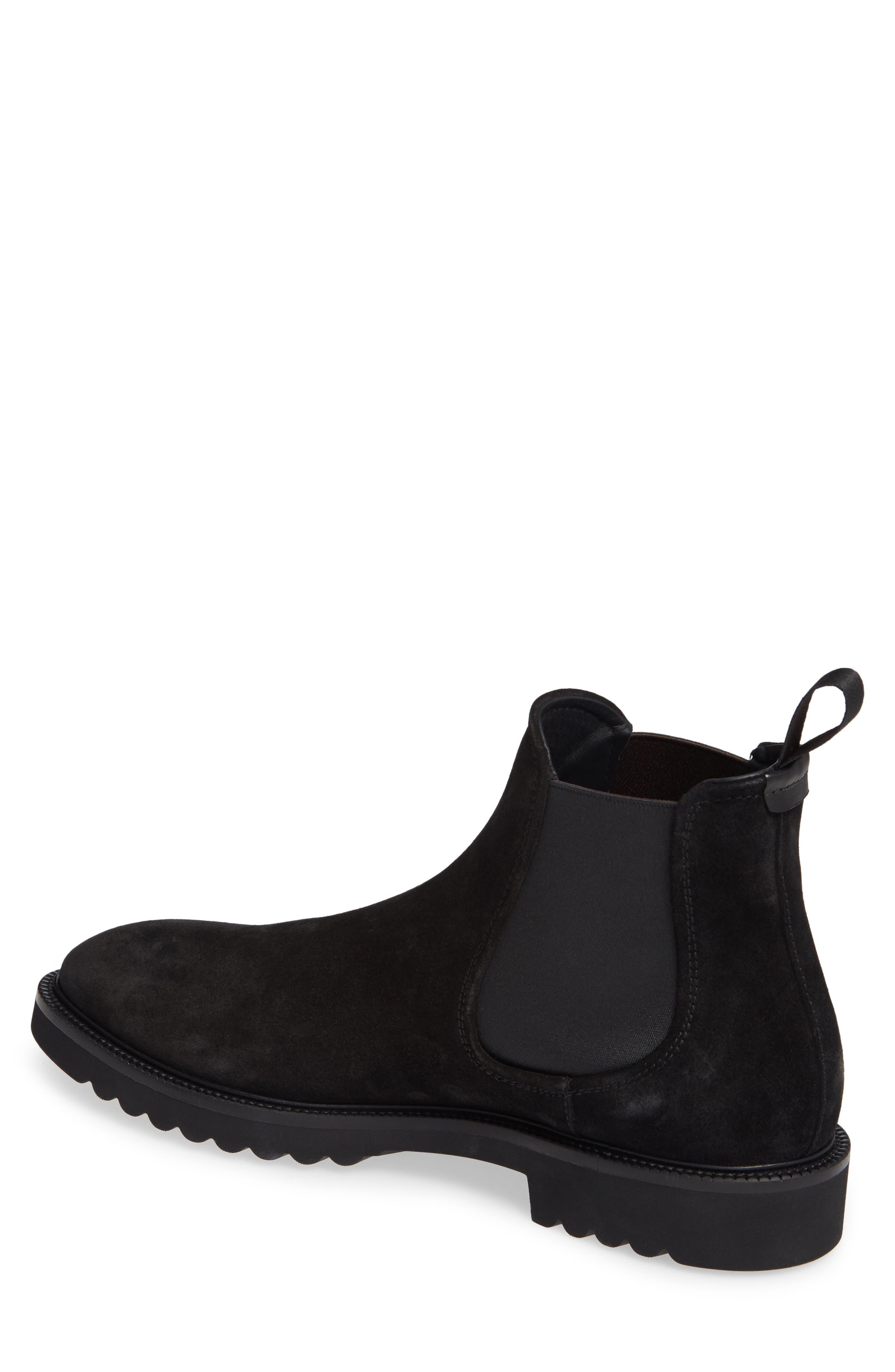 Lugged Chelsea Boot,                             Alternate thumbnail 2, color,                             BLACK LEATHER