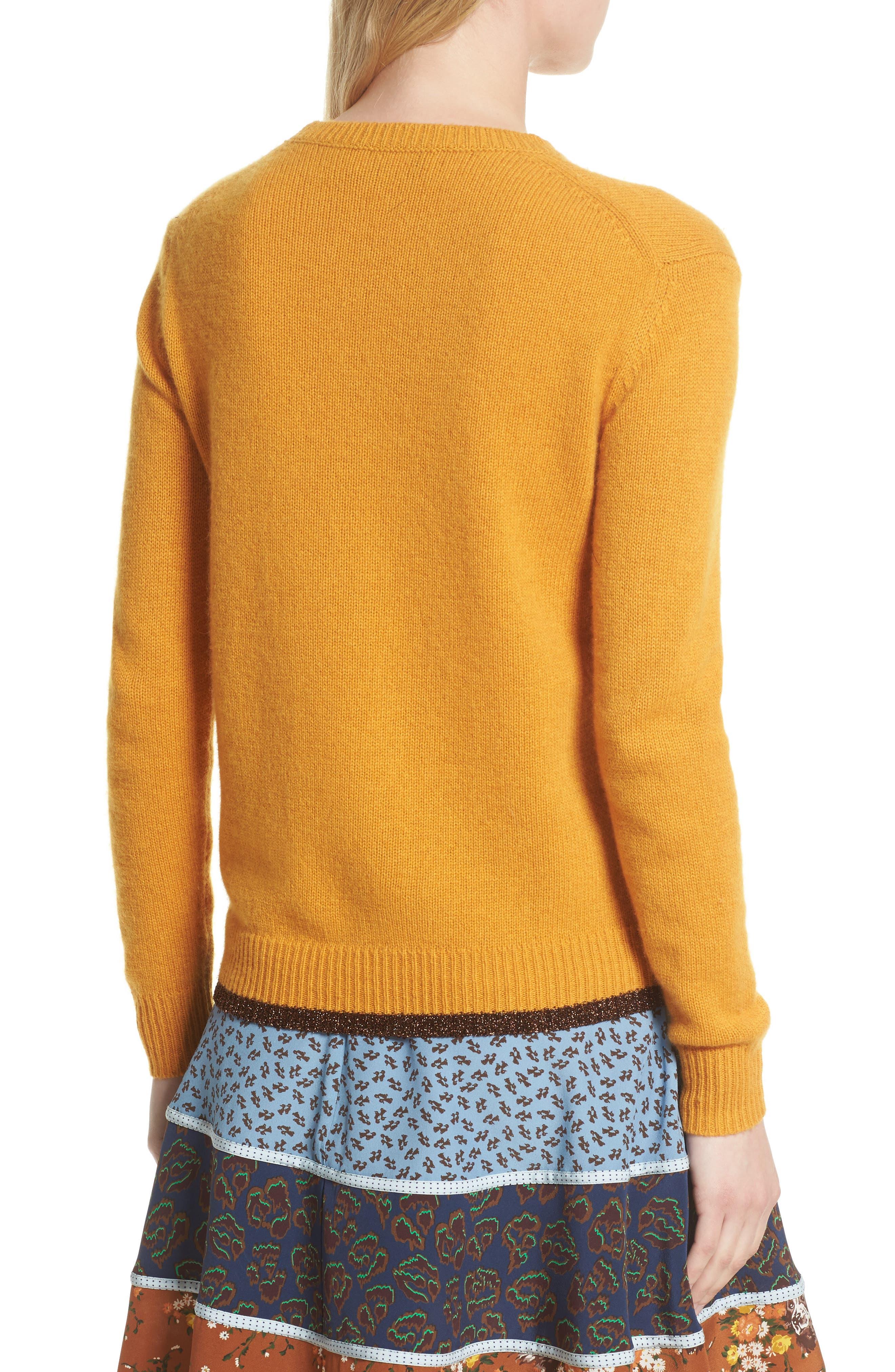 Intarsia Dog Cashmere Sweater,                             Alternate thumbnail 2, color,                             701