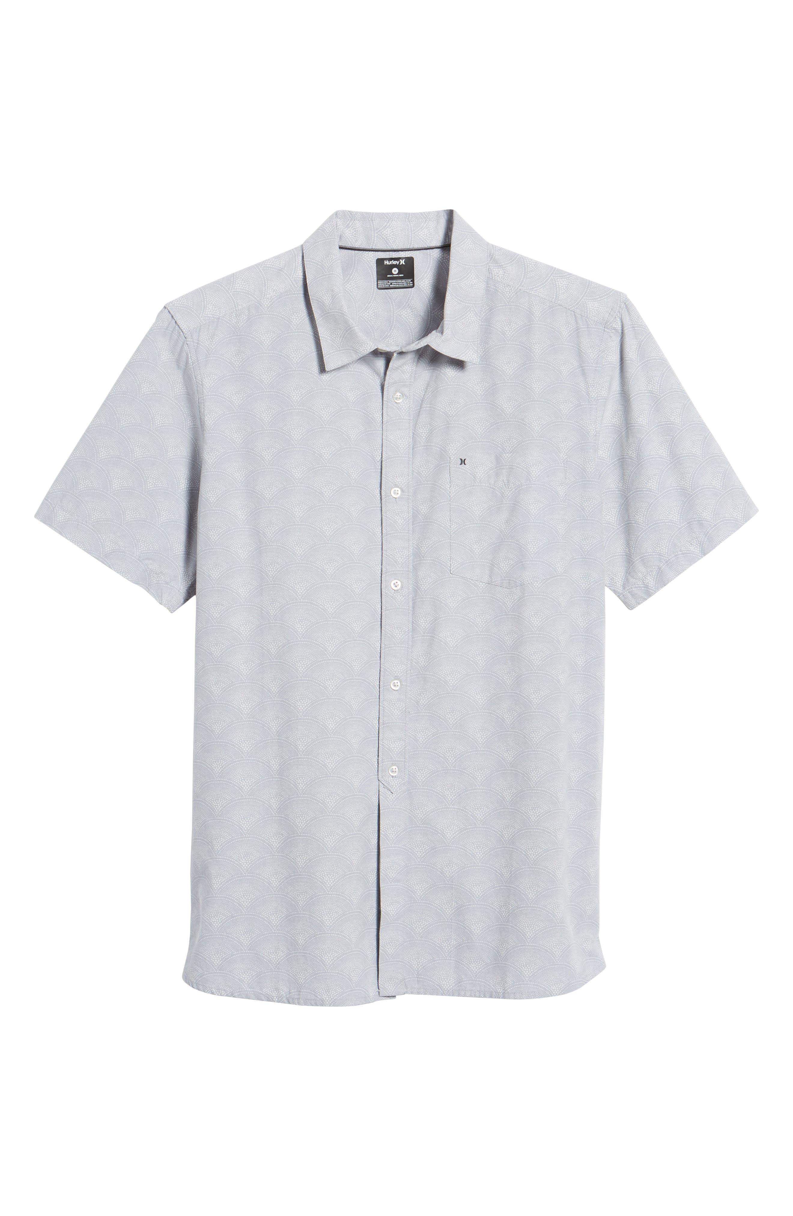 Pescado Short Sleeve Oxford Shirt,                             Alternate thumbnail 6, color,                             LIGHT PUMICE