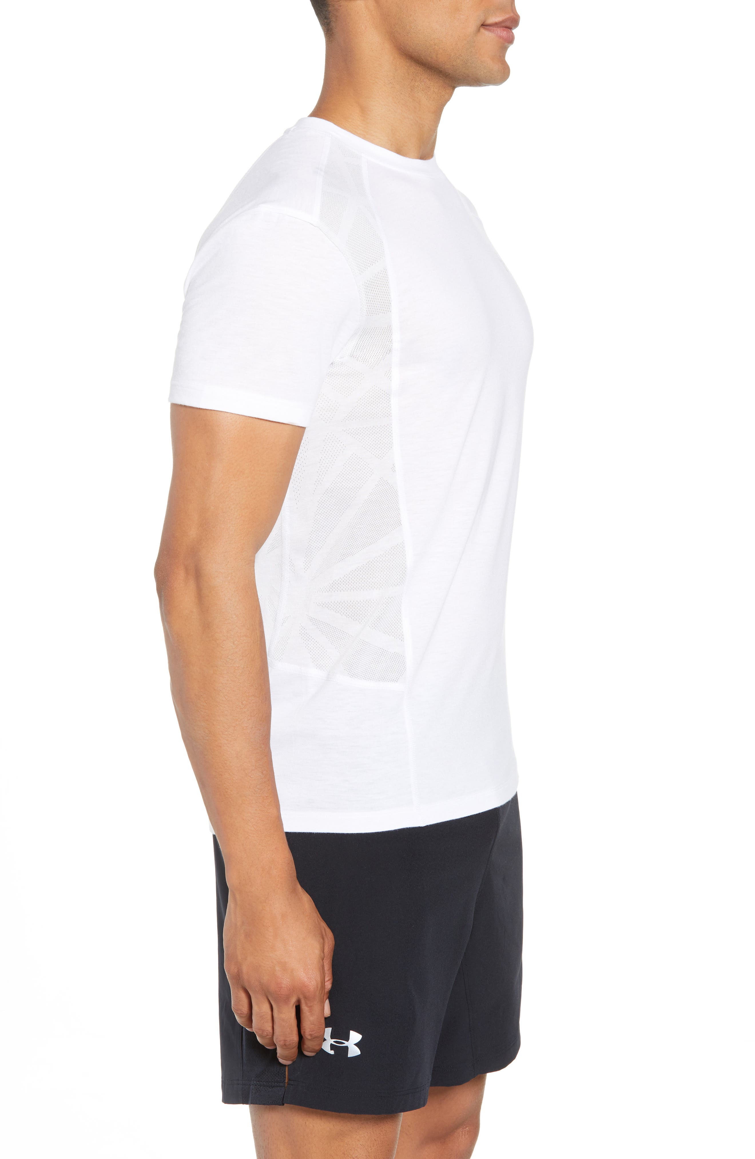 Threadborne Swyft Trim Fit Tee,                             Alternate thumbnail 3, color,                             100