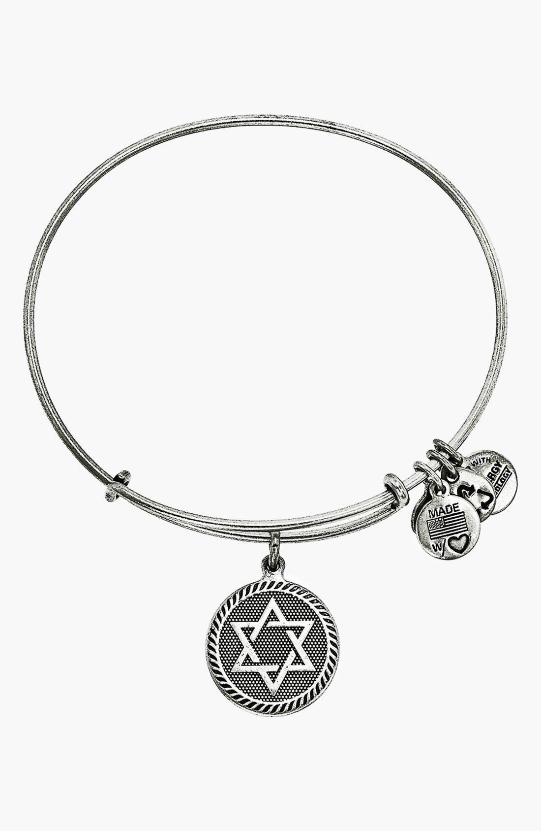 'Star of David' Expandable Wire Bangle, Main, color, 040