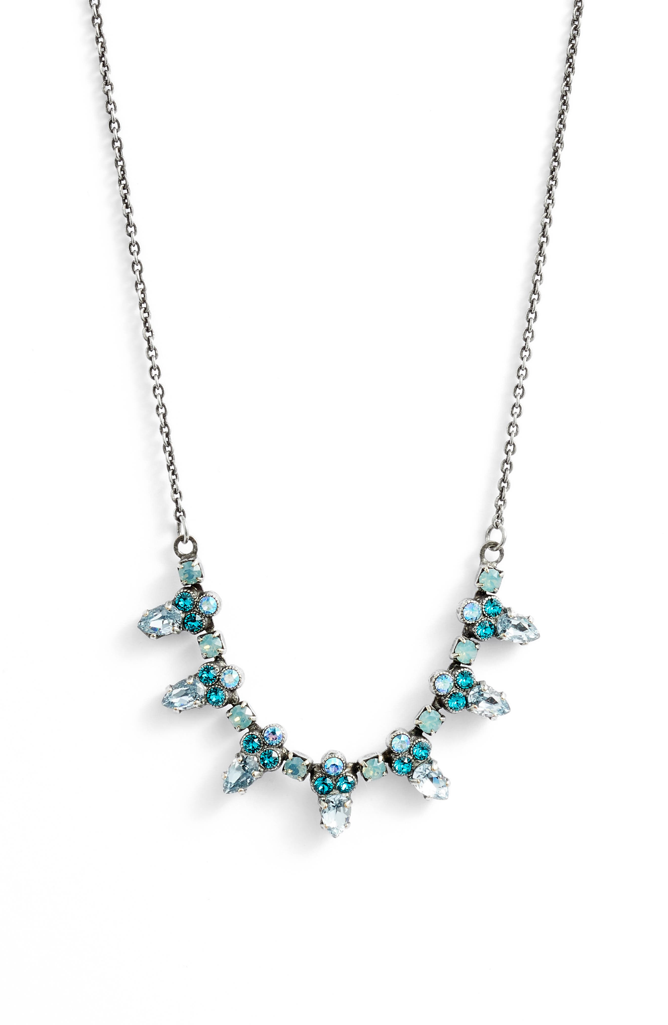 Twinkling Thistle Crystal Necklace,                             Main thumbnail 1, color,