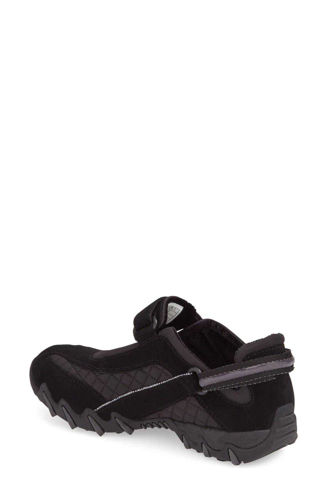'Niro' Athletic Shoe,                             Alternate thumbnail 2, color,                             BLACK/ BLACK SUEDE