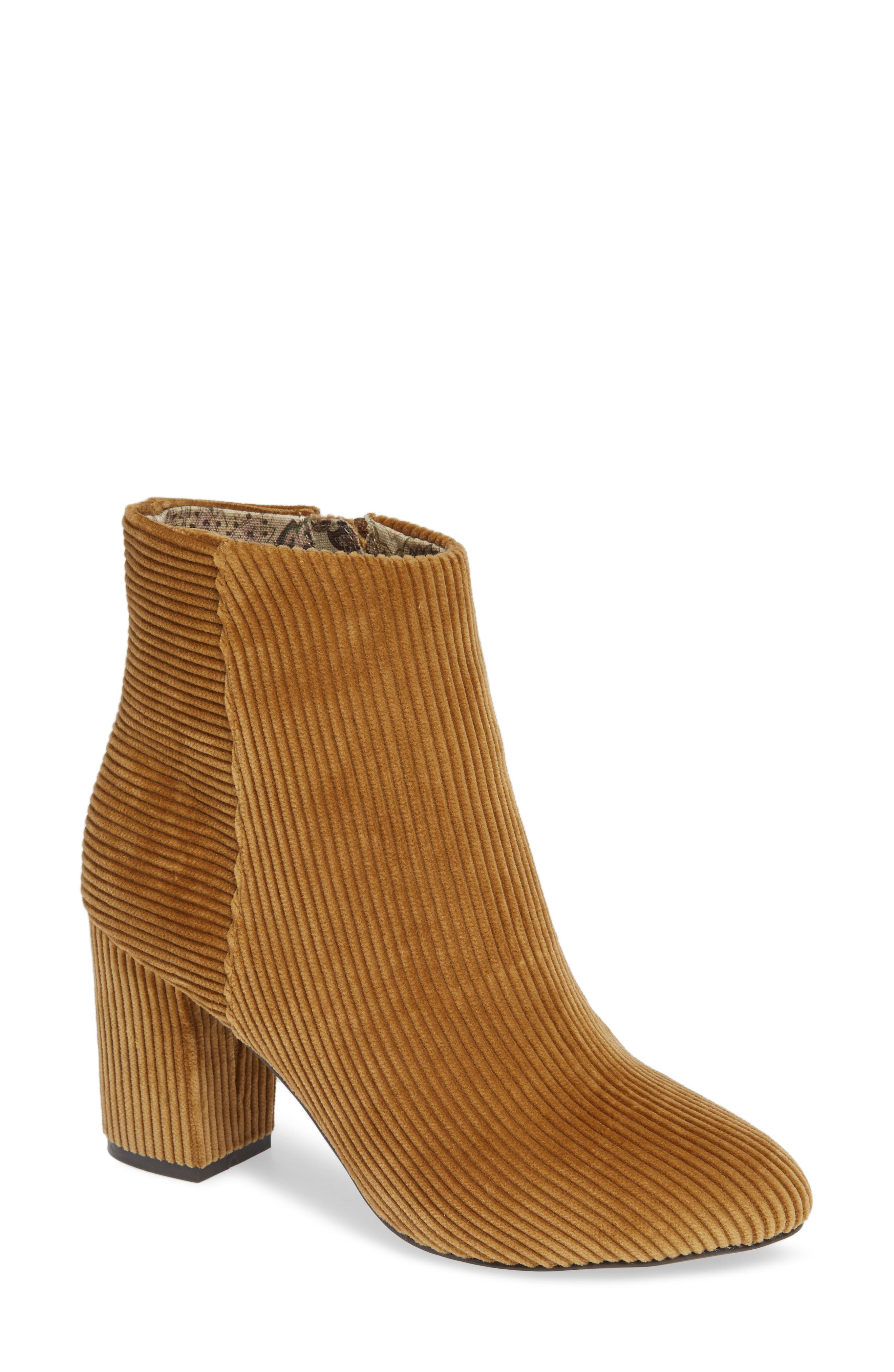 Andrea Bootie,                             Main thumbnail 1, color,                             TAN CORDUROY