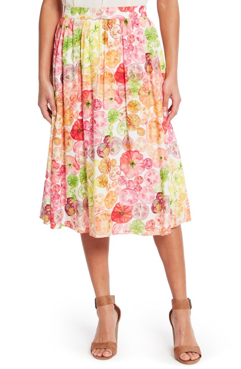 41d6120db5b ModCloth Heirloom Tomato Print Pocket Skirt (Regular   Plus Size ...