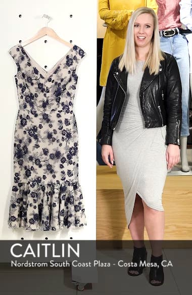 Rosemary Floral Embroidered Midi Dress, sales video thumbnail