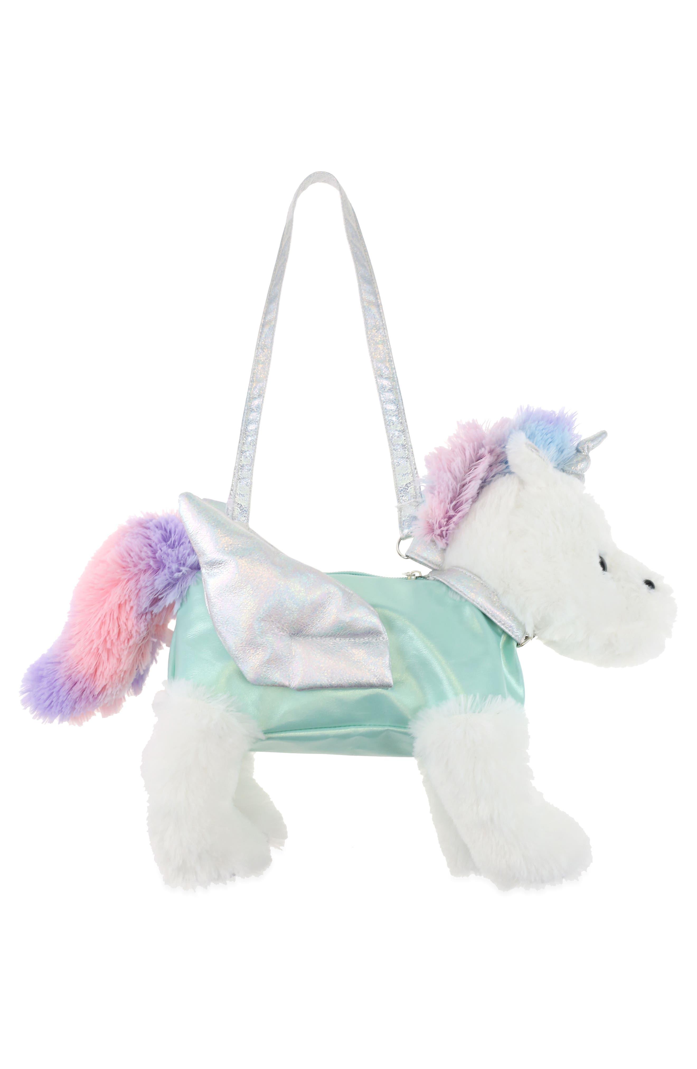 Pegasus Plush Bag,                             Alternate thumbnail 2, color,                             MINT