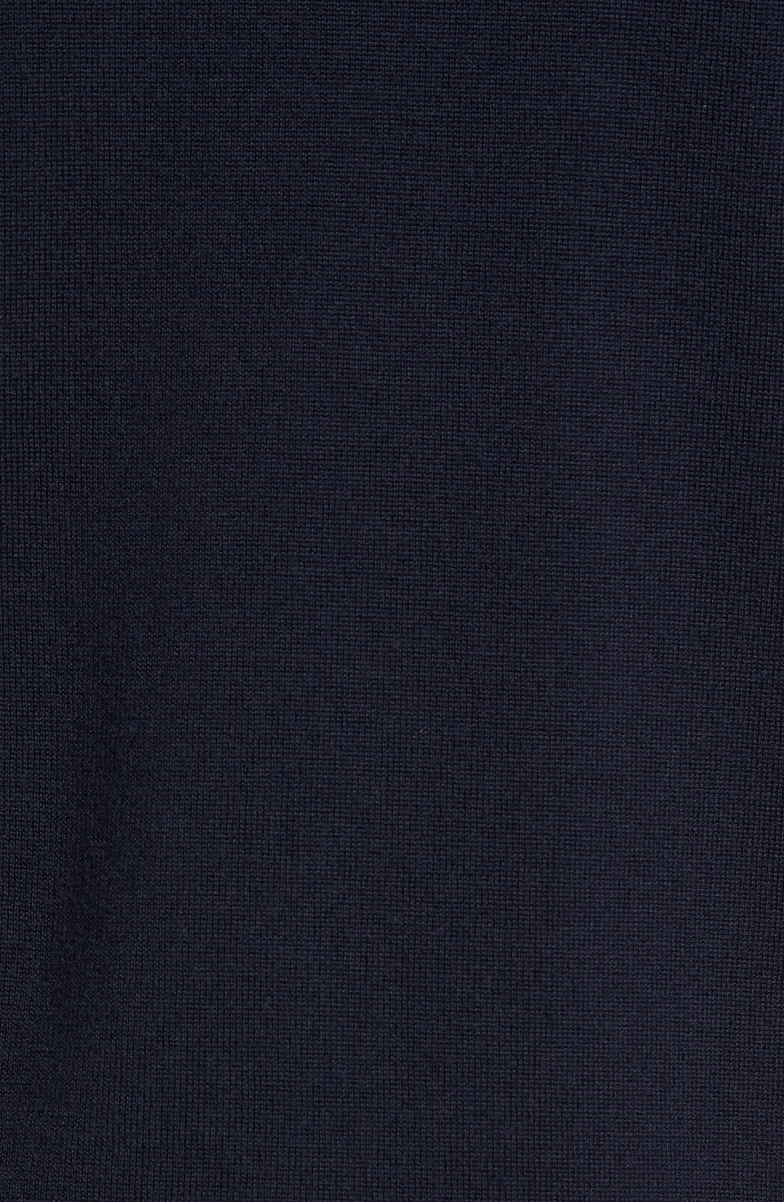 'Tapton' Quarter Zip Merino Wool Sweater,                             Alternate thumbnail 4, color,                             412