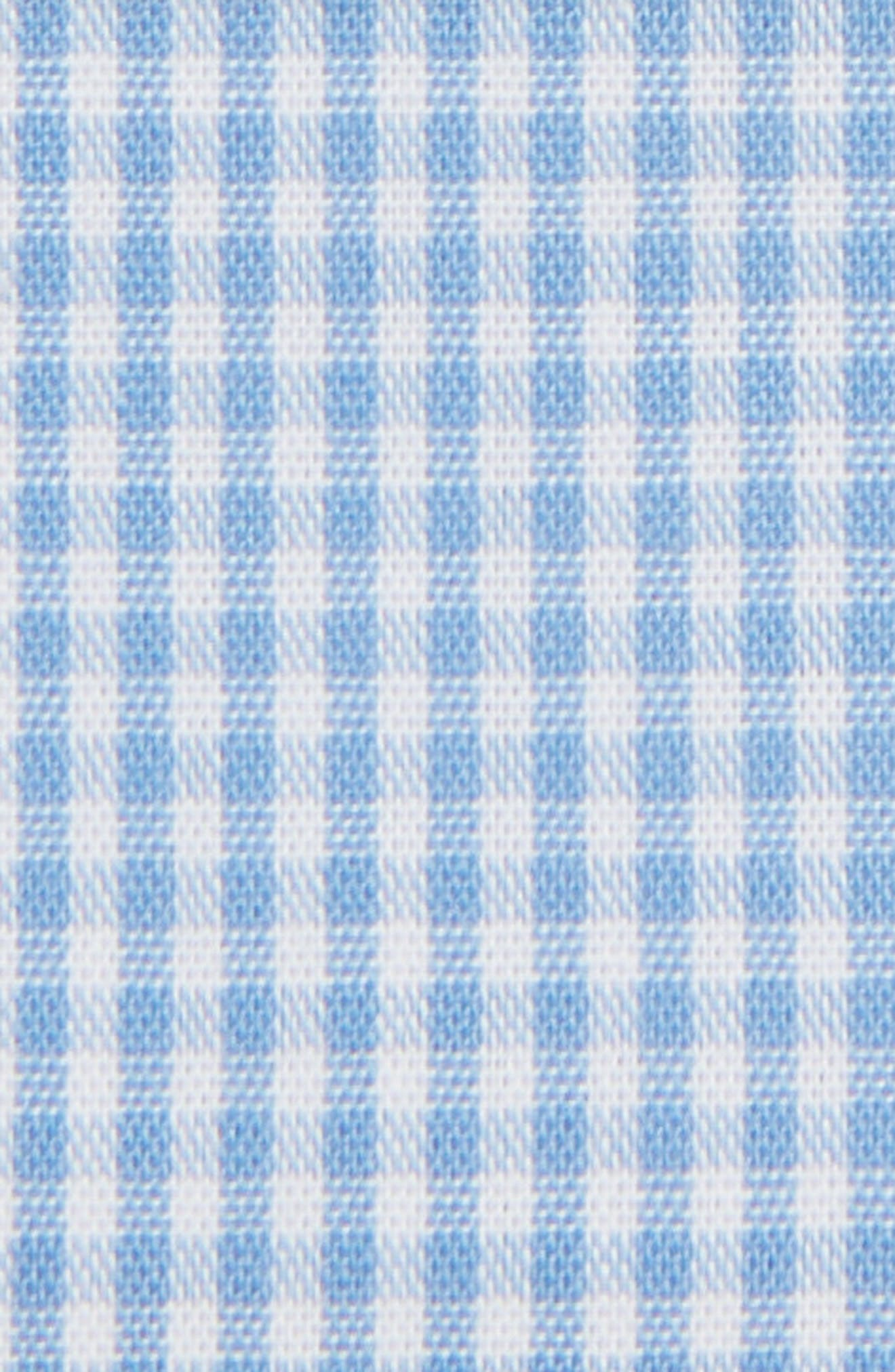The Perfect Prefolded Gingham Pocket Square,                             Alternate thumbnail 3, color,                             BABY BLUE