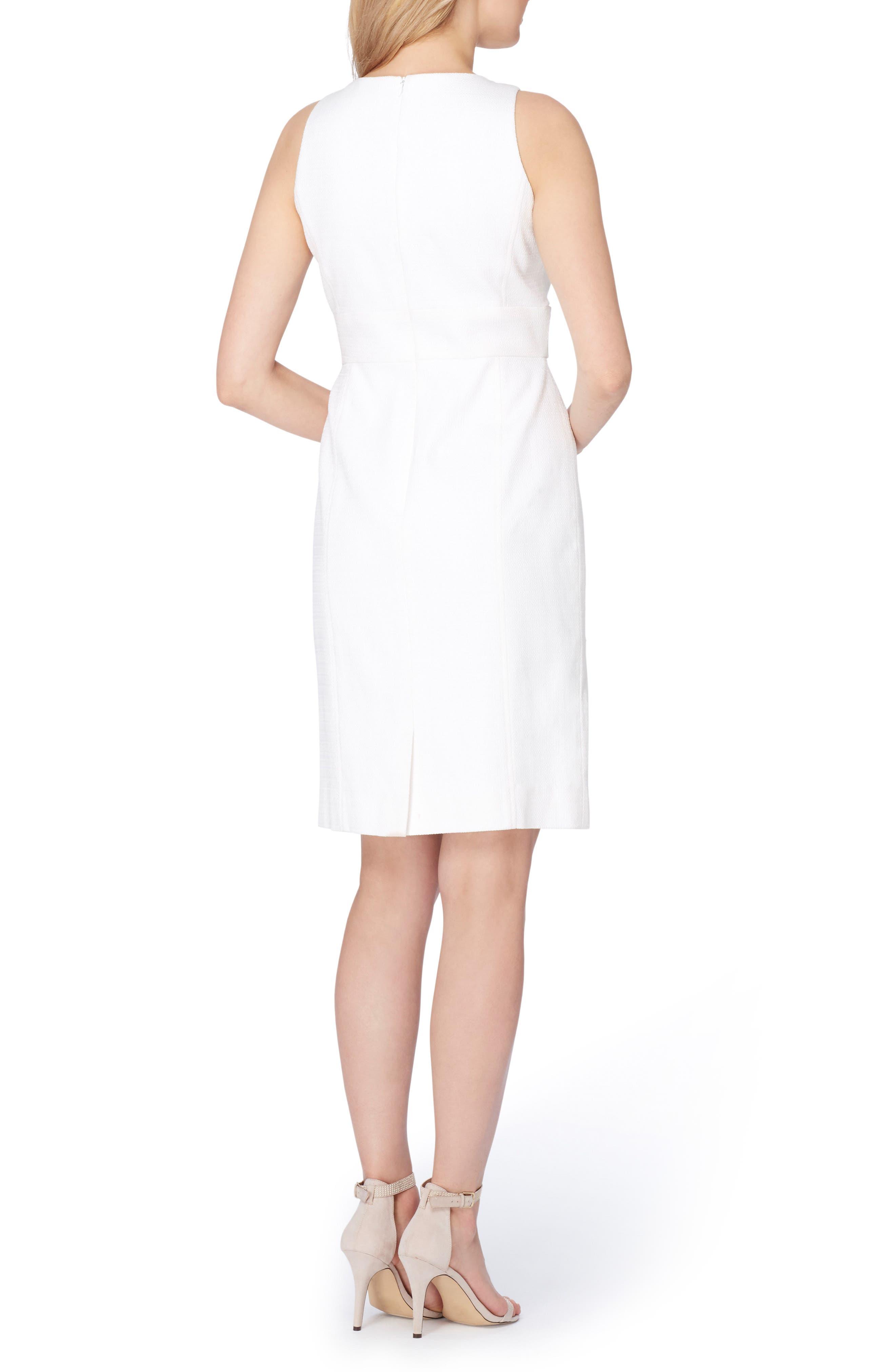 Textured Knit Sheath Dress,                             Alternate thumbnail 2, color,                             100