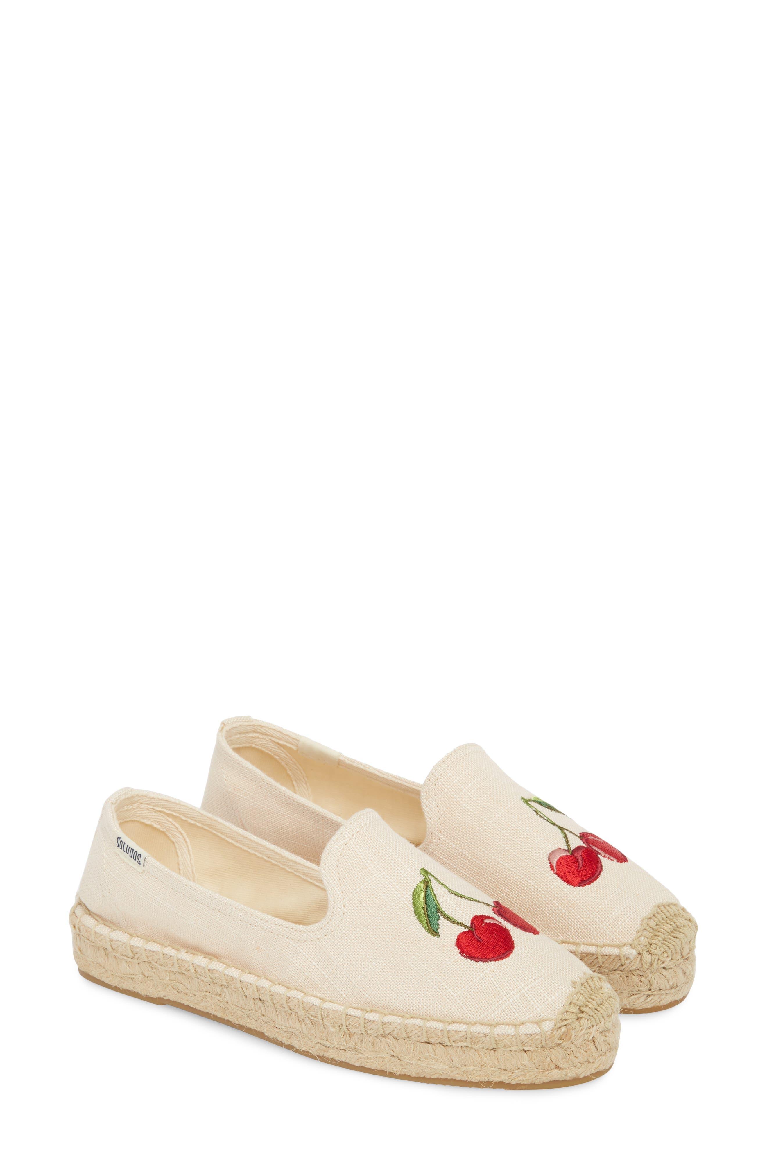 Cherries Embroidered Espadrille,                             Alternate thumbnail 2, color,                             680