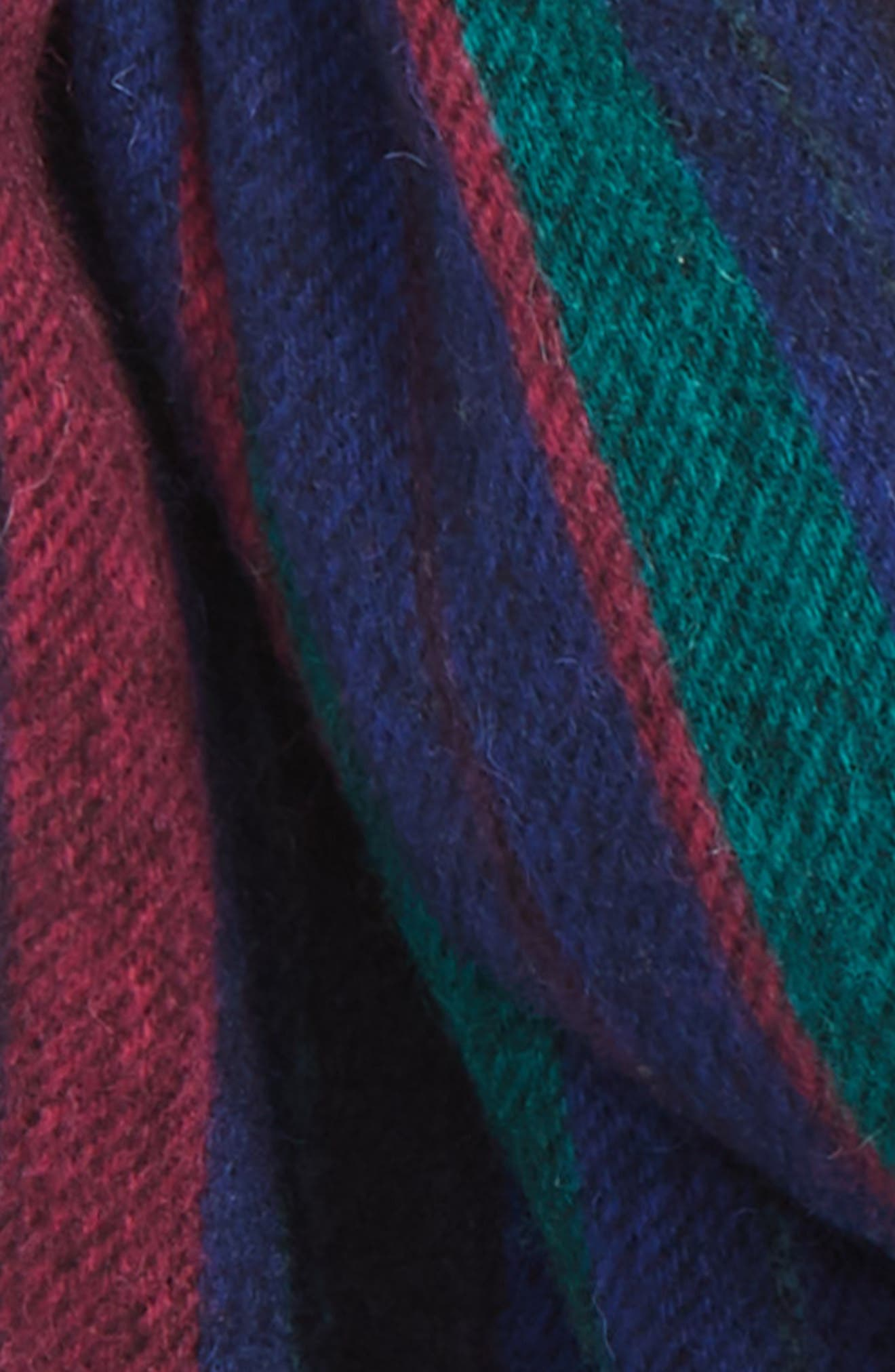 PAUL SMITH,                             College Stripe Wool Scarf,                             Alternate thumbnail 3, color,                             NAVY