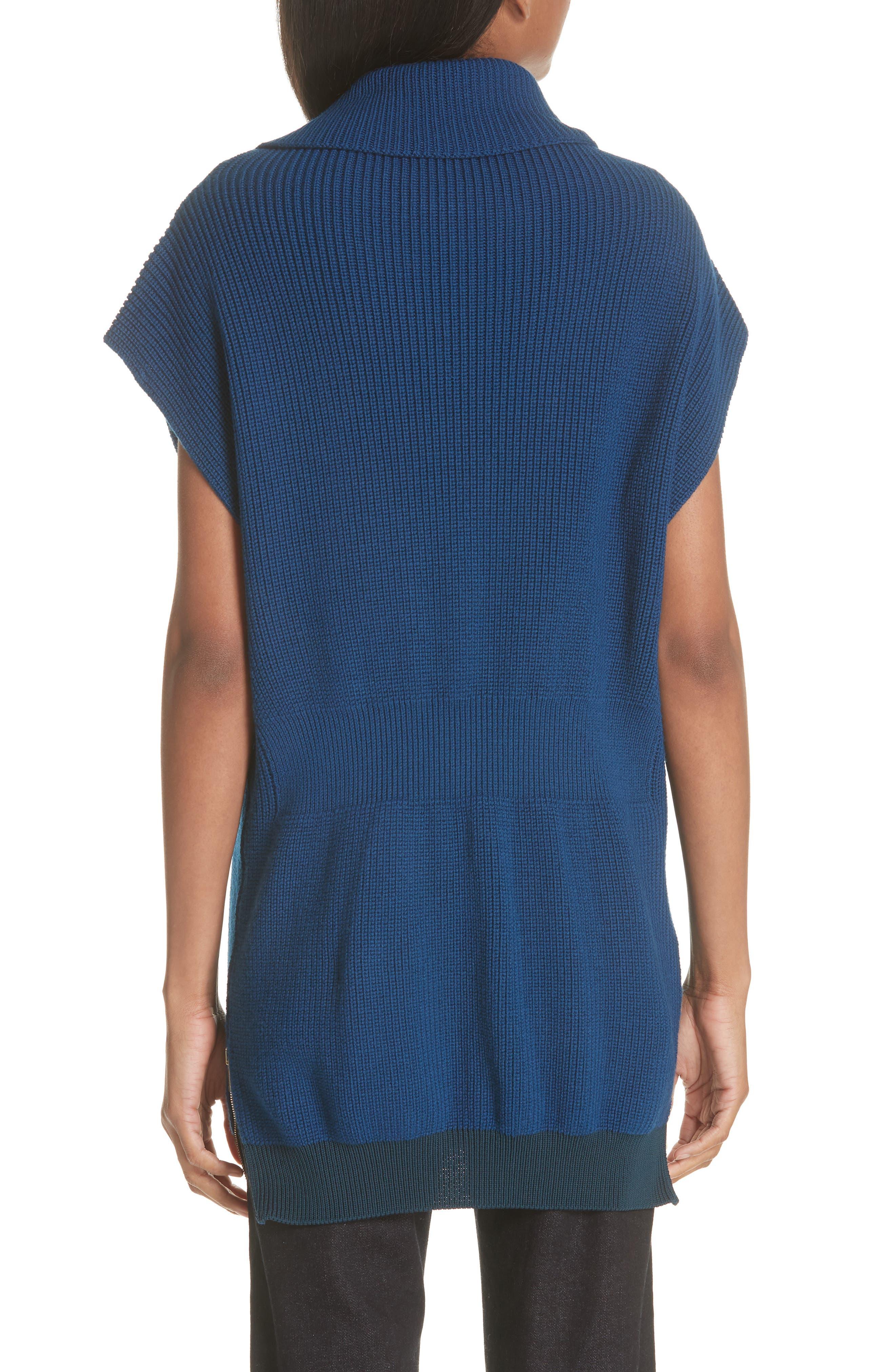 Wool Turtleneck Vest,                             Alternate thumbnail 2, color,                             SHADOW BLUE