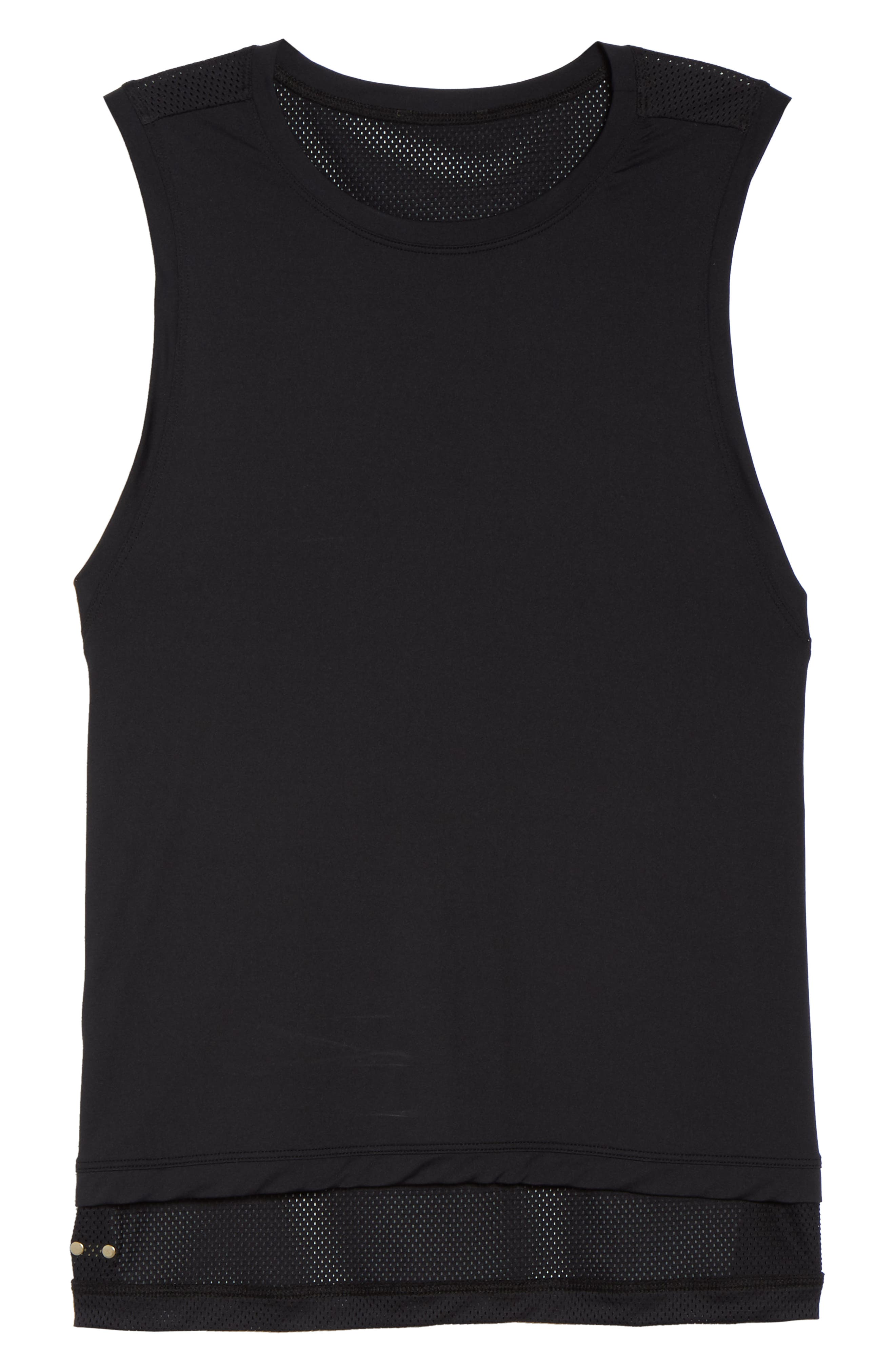 Skimm Mesh Back Tank,                             Alternate thumbnail 7, color,                             001