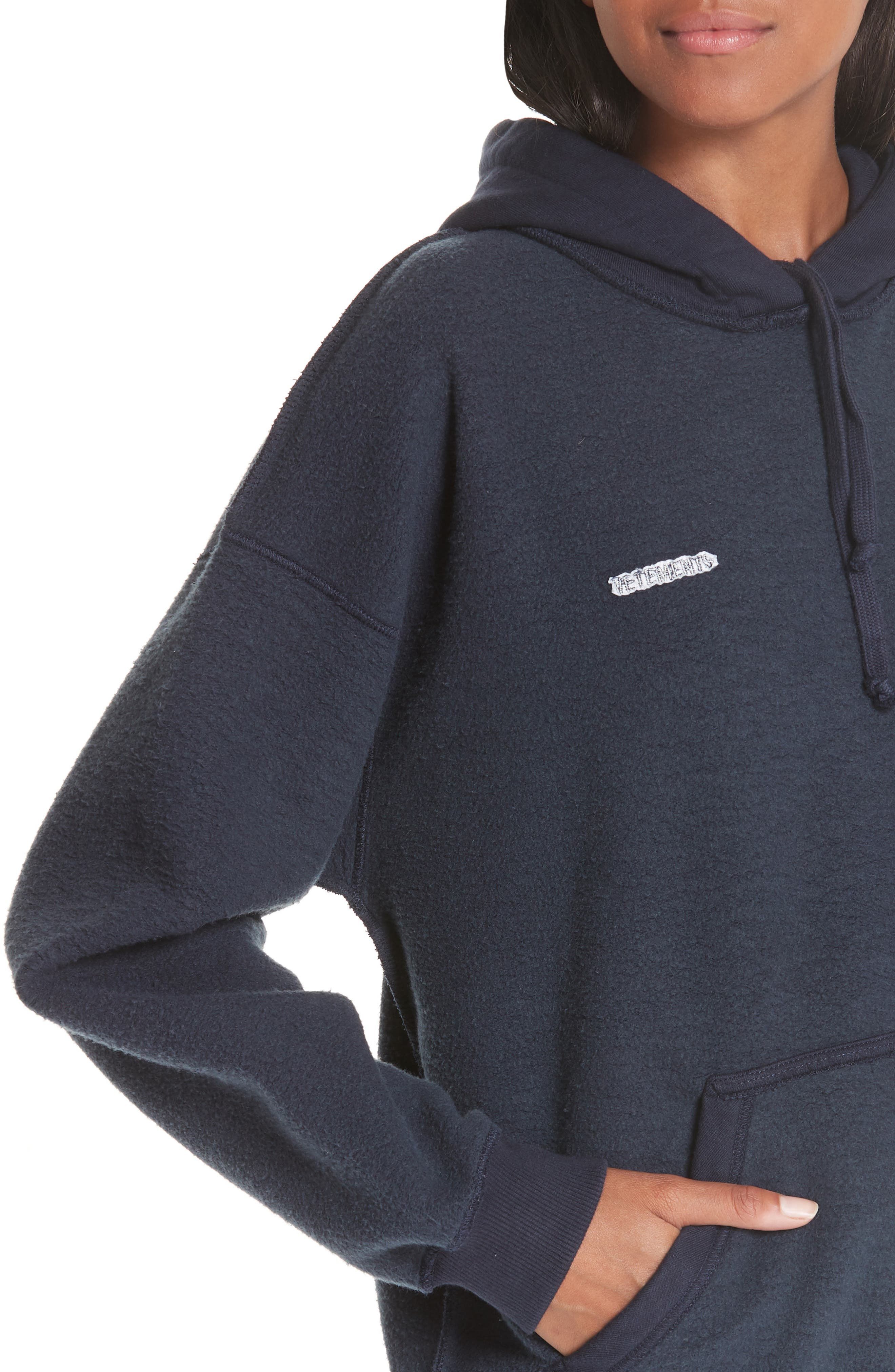 Inside-Out Hoodie,                             Alternate thumbnail 4, color,                             NAVY