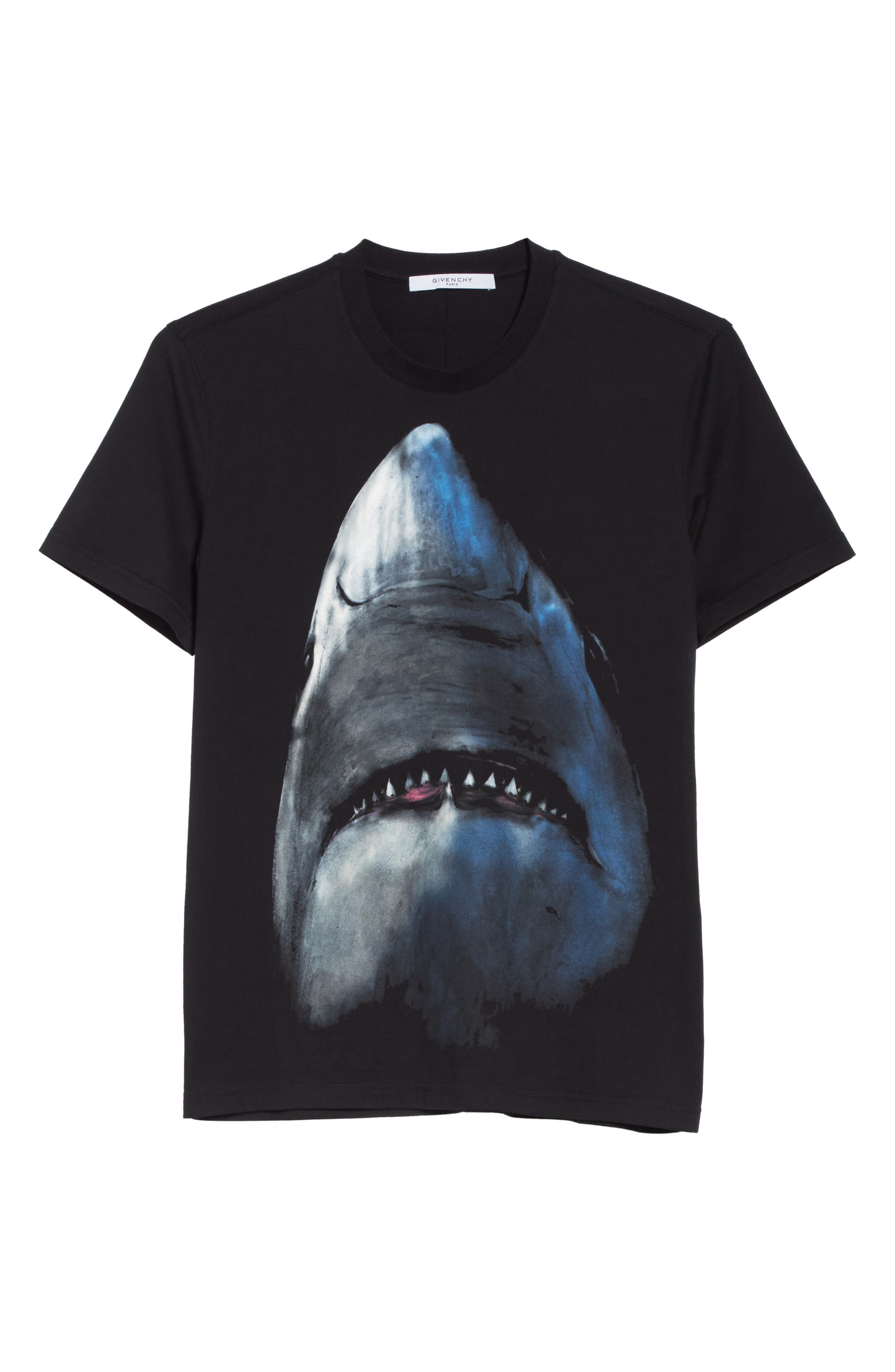 Shark T-Shirt,                             Alternate thumbnail 6, color,                             BLACK