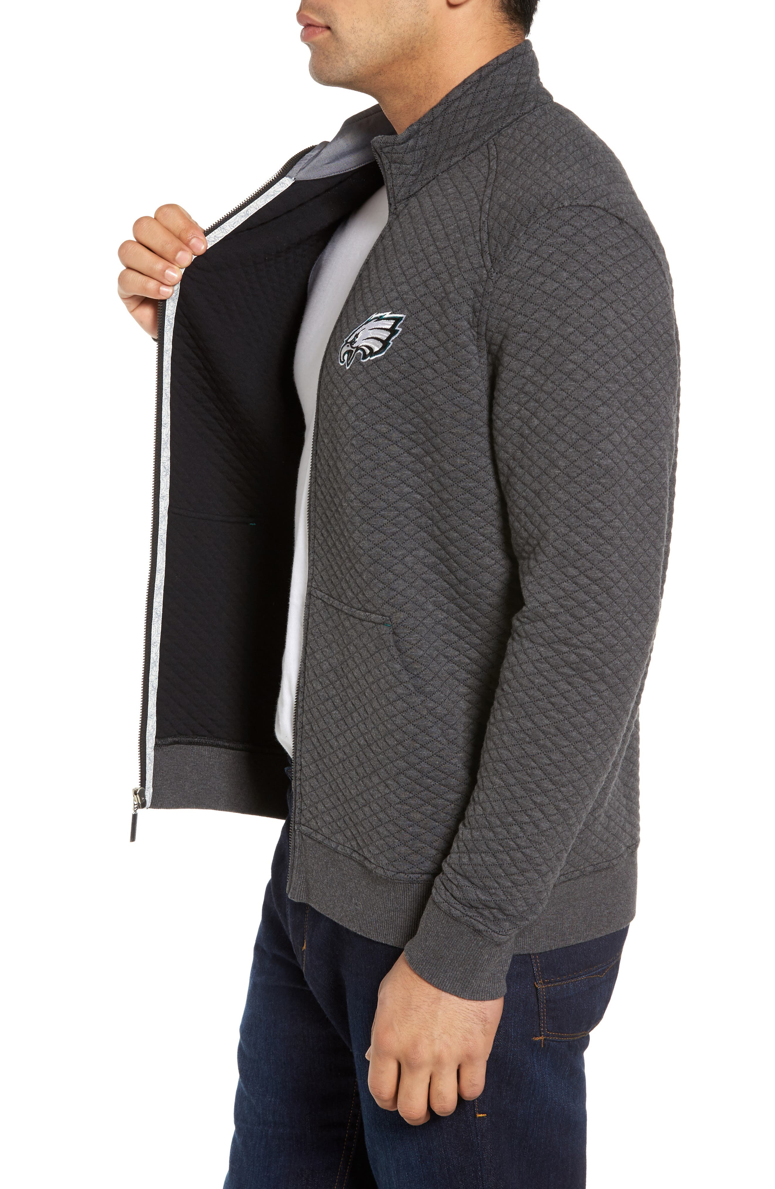 NFL Quiltessential Full Zip Sweatshirt,                             Alternate thumbnail 76, color,