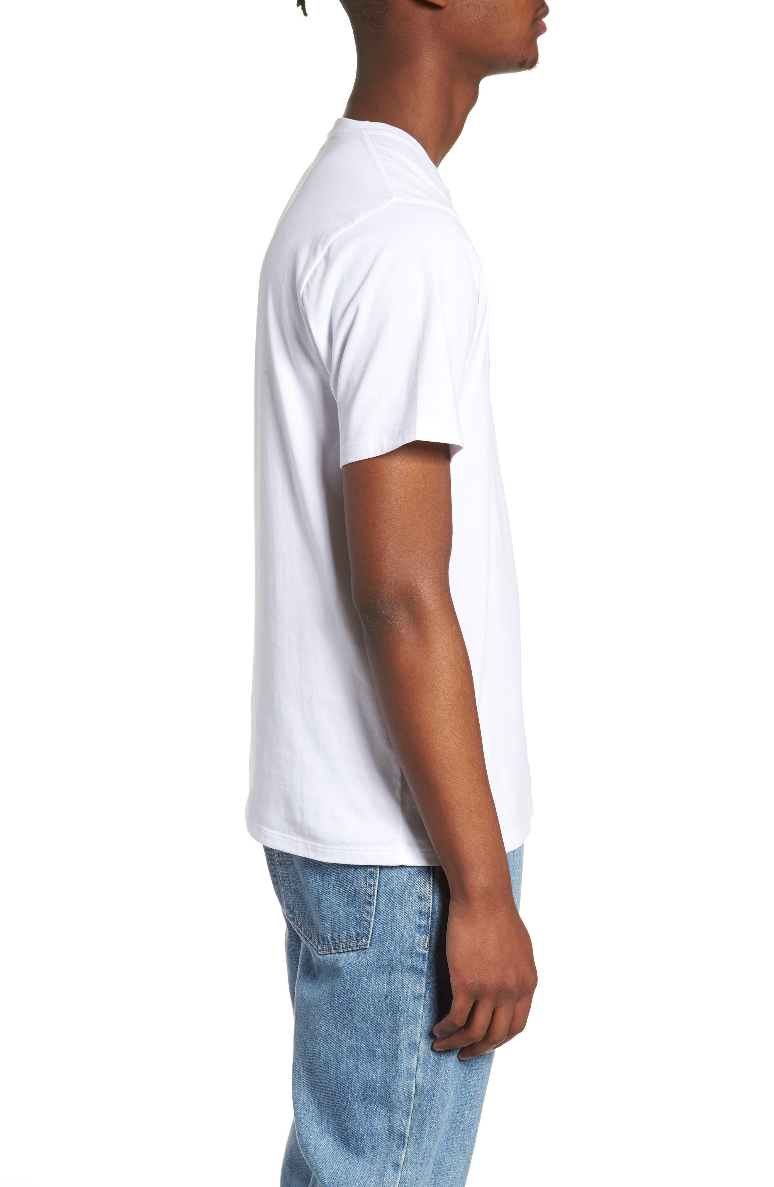 Monstera Block T-Shirt,                             Alternate thumbnail 3, color,                             110