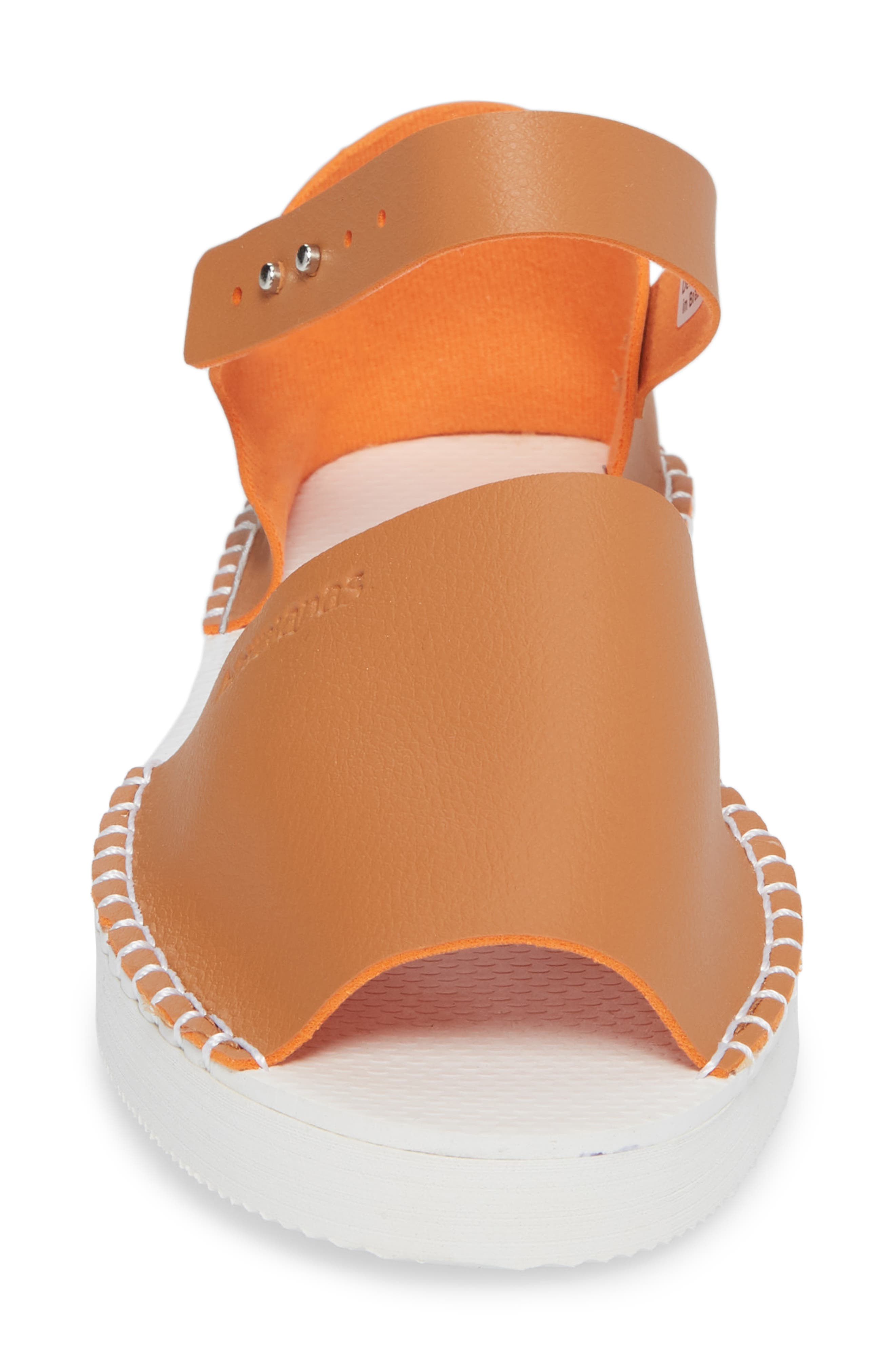 Flatform Fashion Sandal,                             Alternate thumbnail 4, color,                             CAMEL