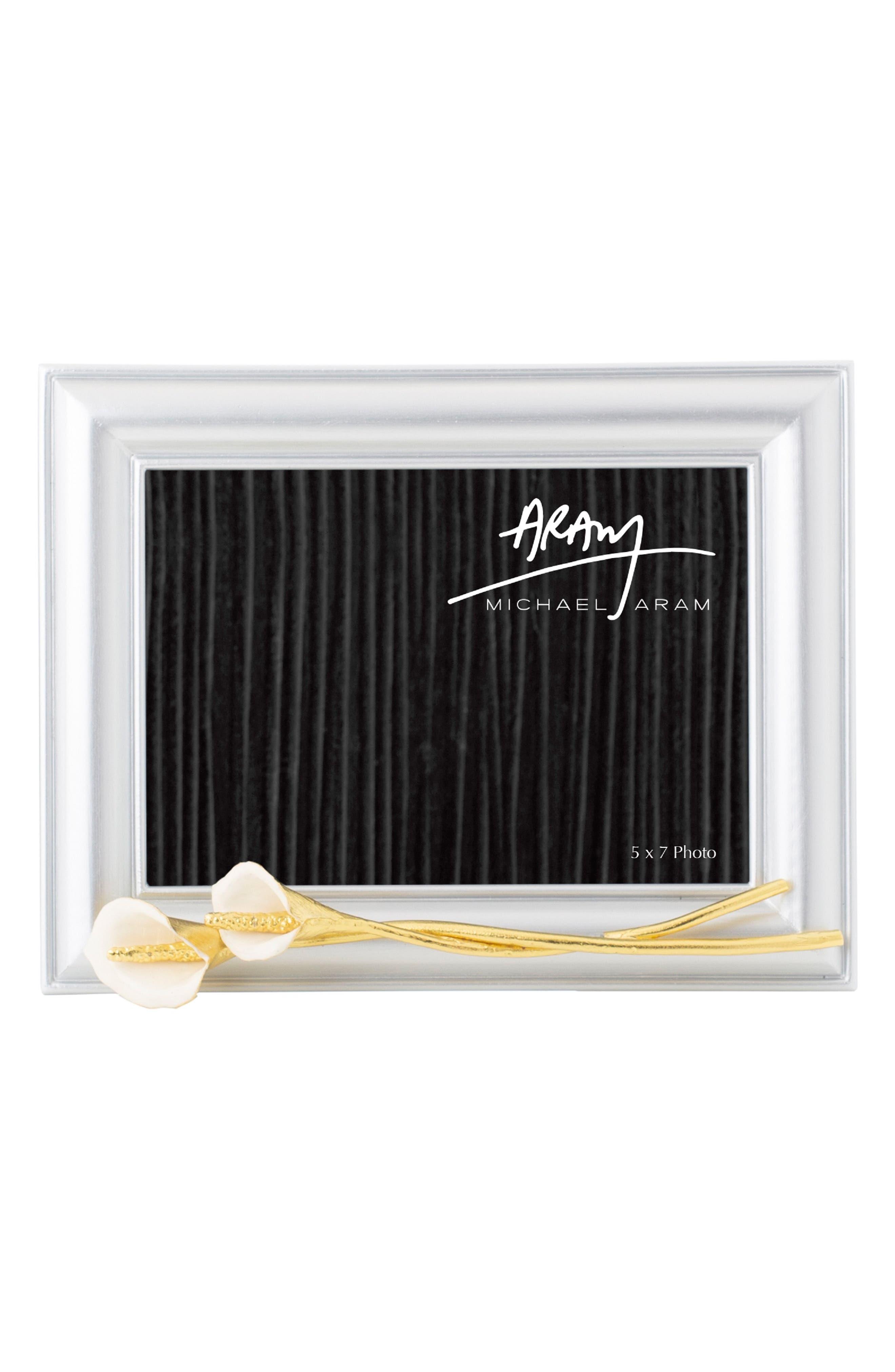 MICHAEL ARAM Calla Lily Picture Frame, Main, color, SILVER - SMALL
