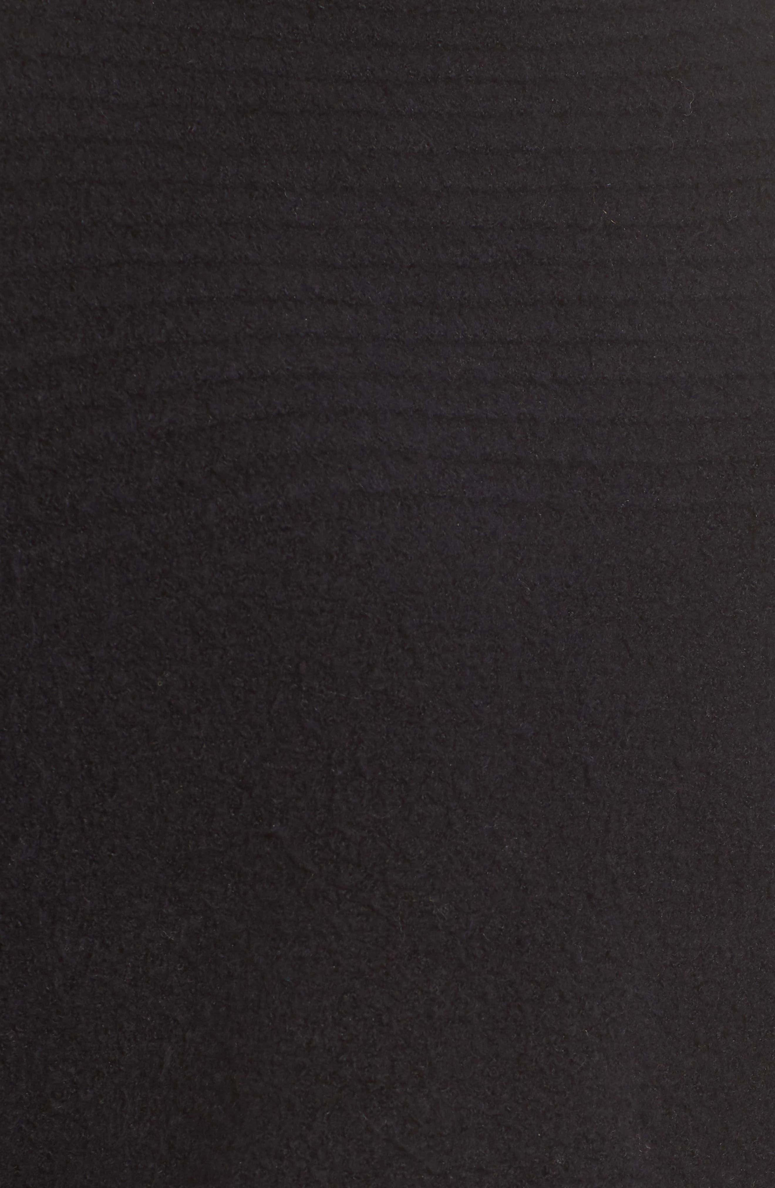 Rib Knit Turtleneck Poncho,                             Alternate thumbnail 5, color,                             BLACK
