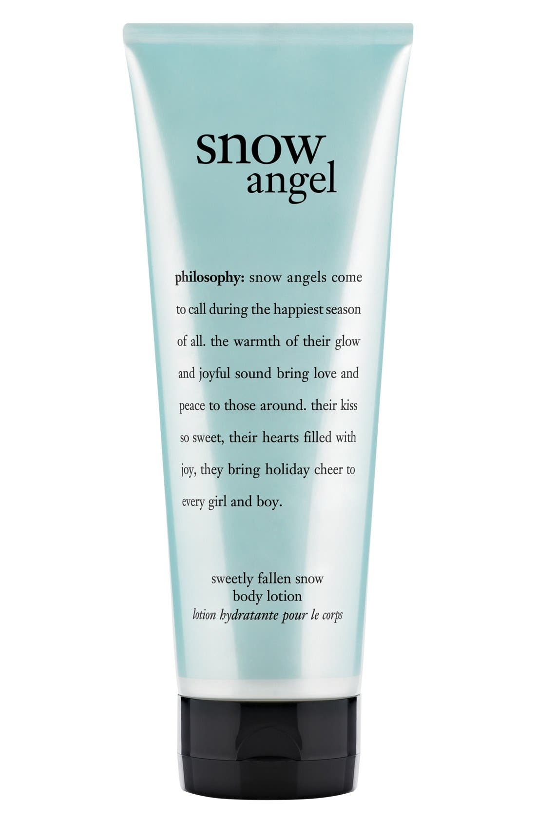 PHILOSOPHY,                             'snow angel' body lotion,                             Main thumbnail 1, color,                             000